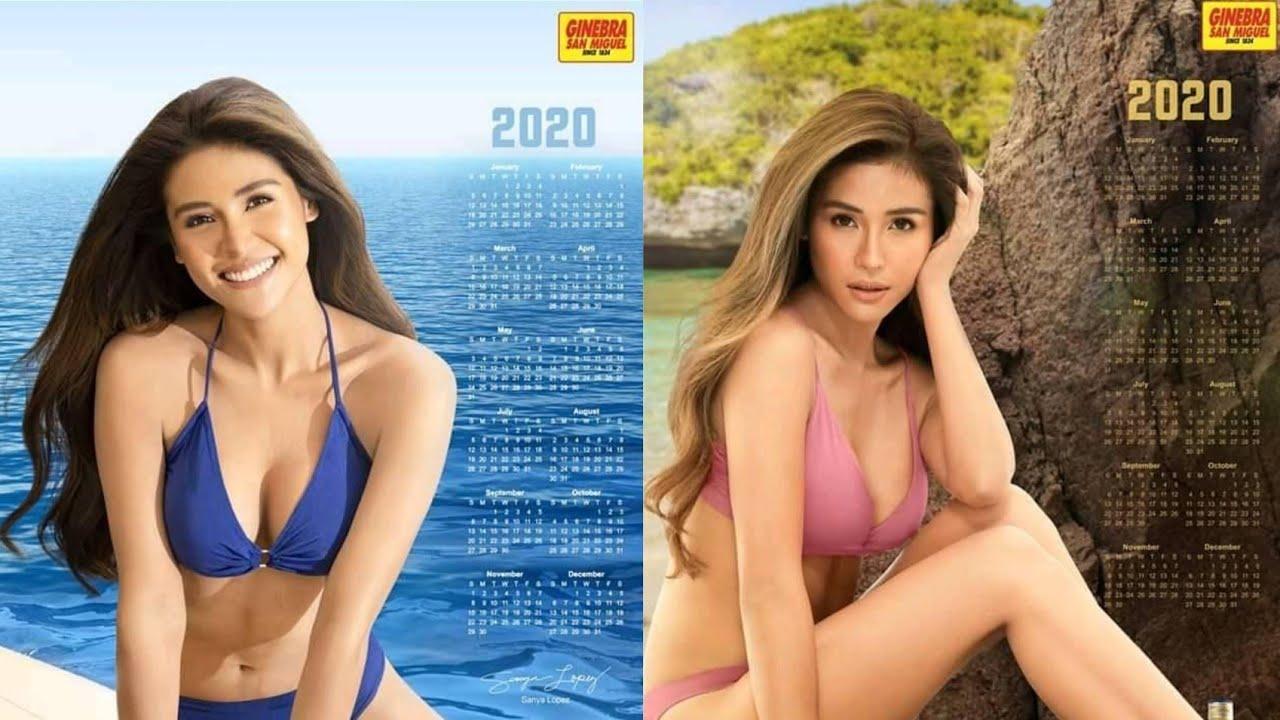 Ginebra San Miguel's Calendar Girl 2020   Sanya Lopez throughout Tanduay Calendar 2020