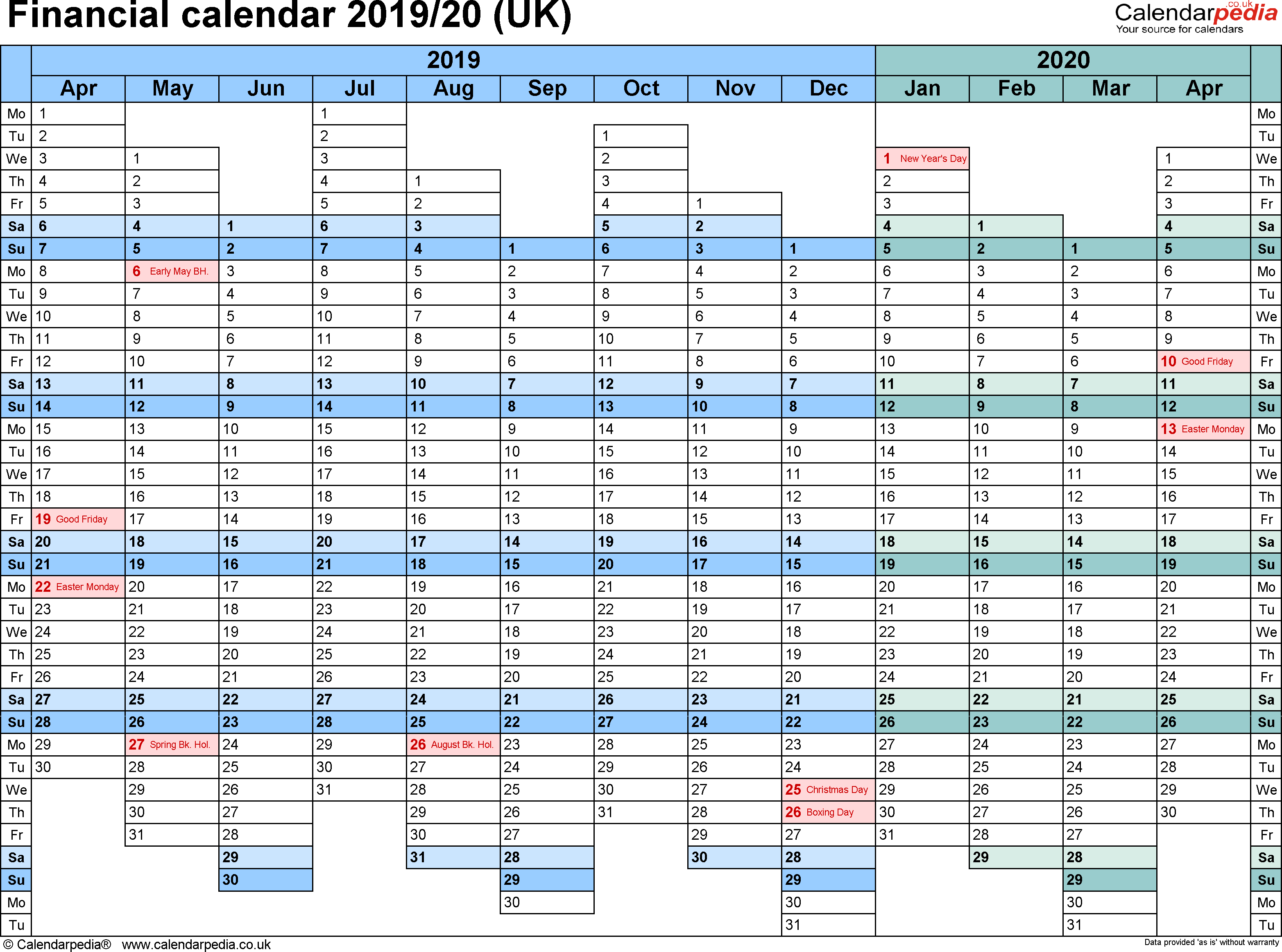 Hmrc Tax 2019 – 2020 Calendars | Calendar Template Printable with Hmrc Tax Calendar 2020 2020