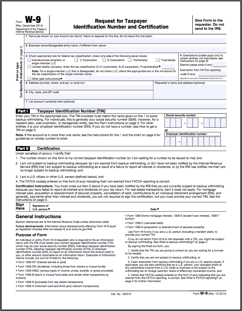 How To Fill Out A W-9 Form Online - Hellosign Blog within Free Printable I9 Forms 2020