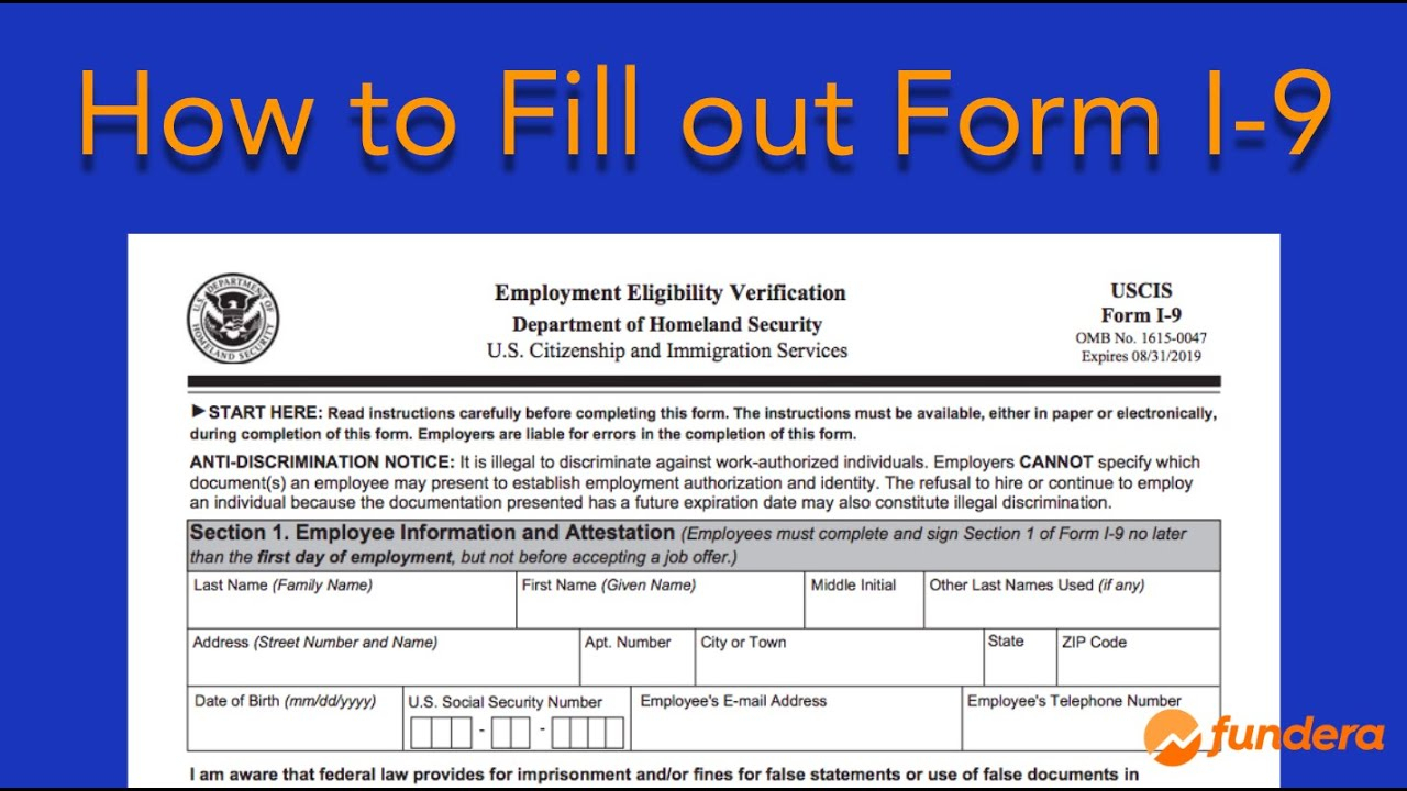 I-9 Form—What Is It, Where To Find It, And How To Fill It Out inside Free Printable I9 Forms 2020