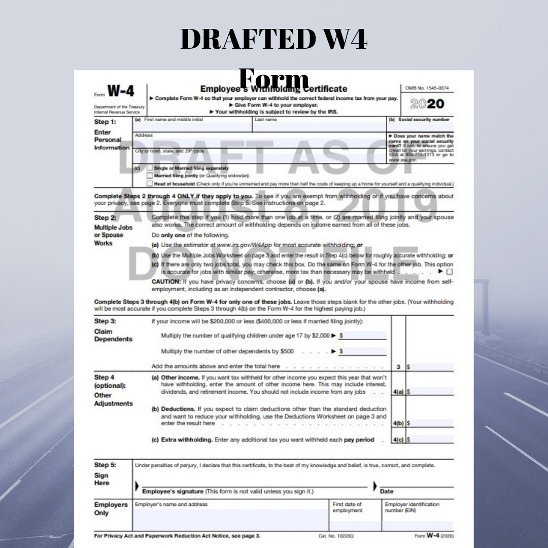Irs Revises Tax Year 2020 Withholding Form W-4 Yet Again regarding 2020 W-9 Form