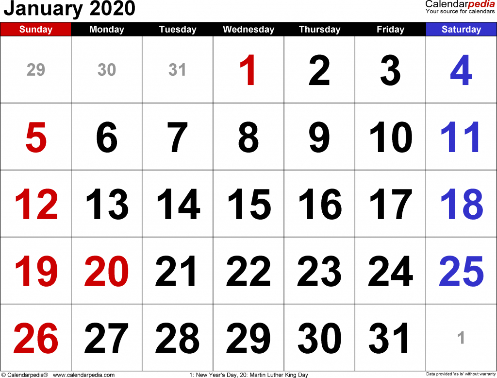 January 2020 Calendar | 2020 Yearly Calendar Template Download!! with regard to October To December 2020 Calendar