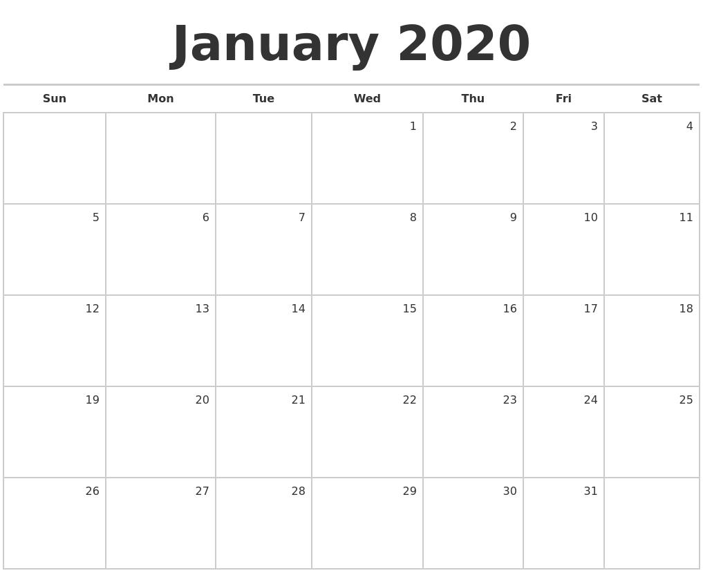 January 2020 Calendar Nz | Calendar Template Printable within I-9 Form 2020