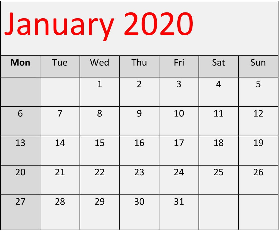 January 2020 Calendar Template For Word, Excel And Pdf in 2020 Sri Lanka Calendar