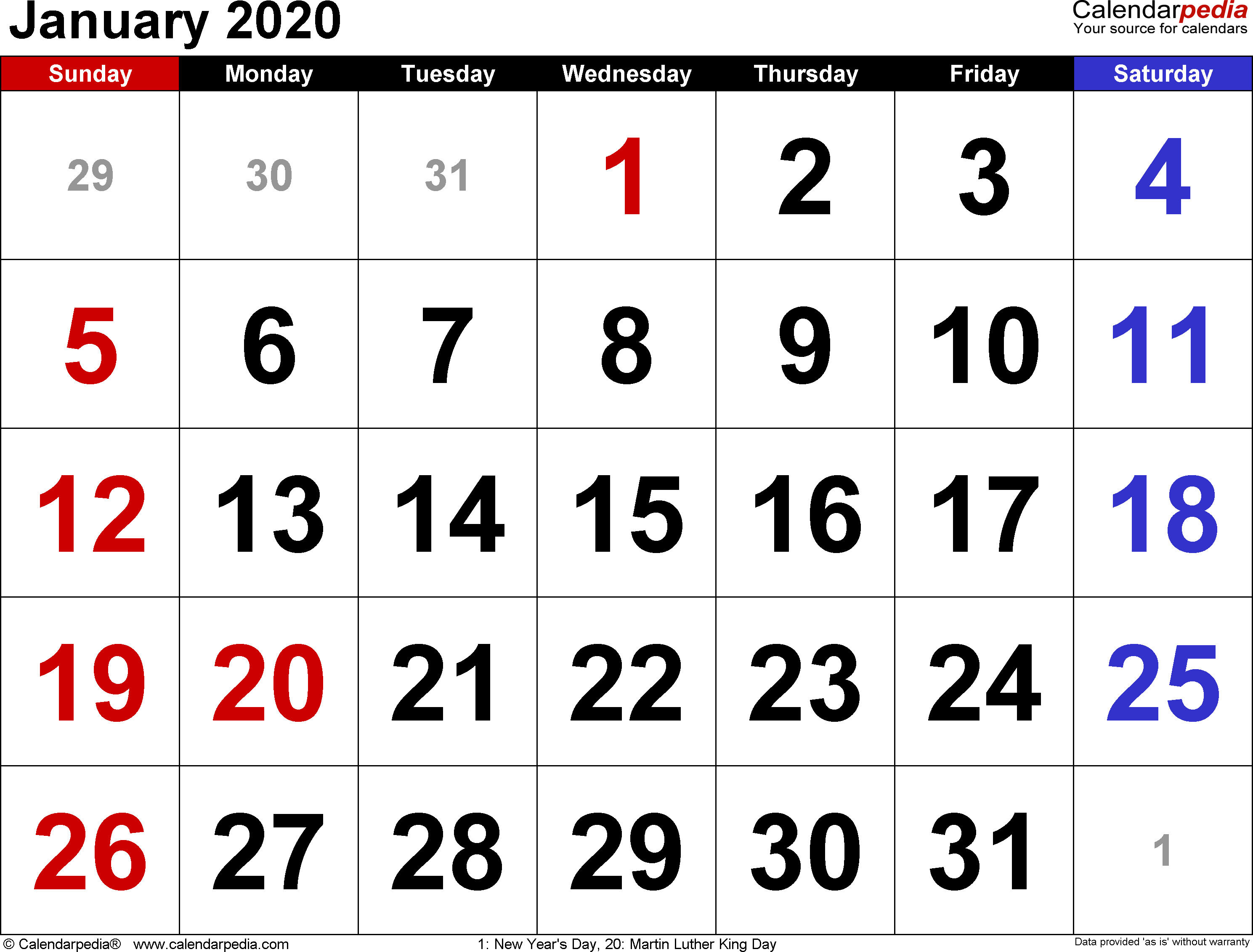 January 2020 Calendar Wallpapers - Top Free January 2020 within January 2020 Calendar