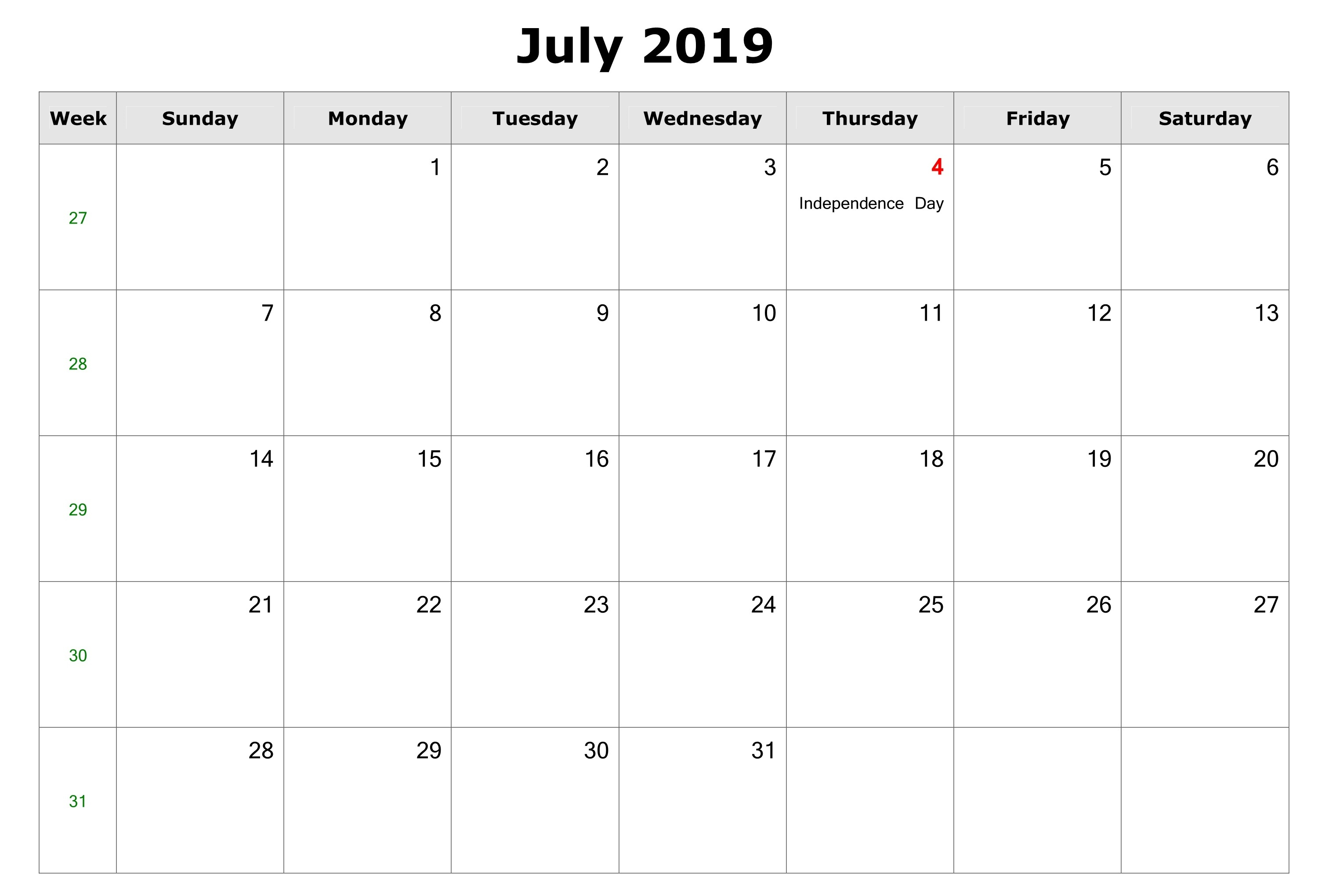 July 2019 Calendar With Holidays Canada, Usa, Australia with regard to Printable Canadian Calendar With Holidays
