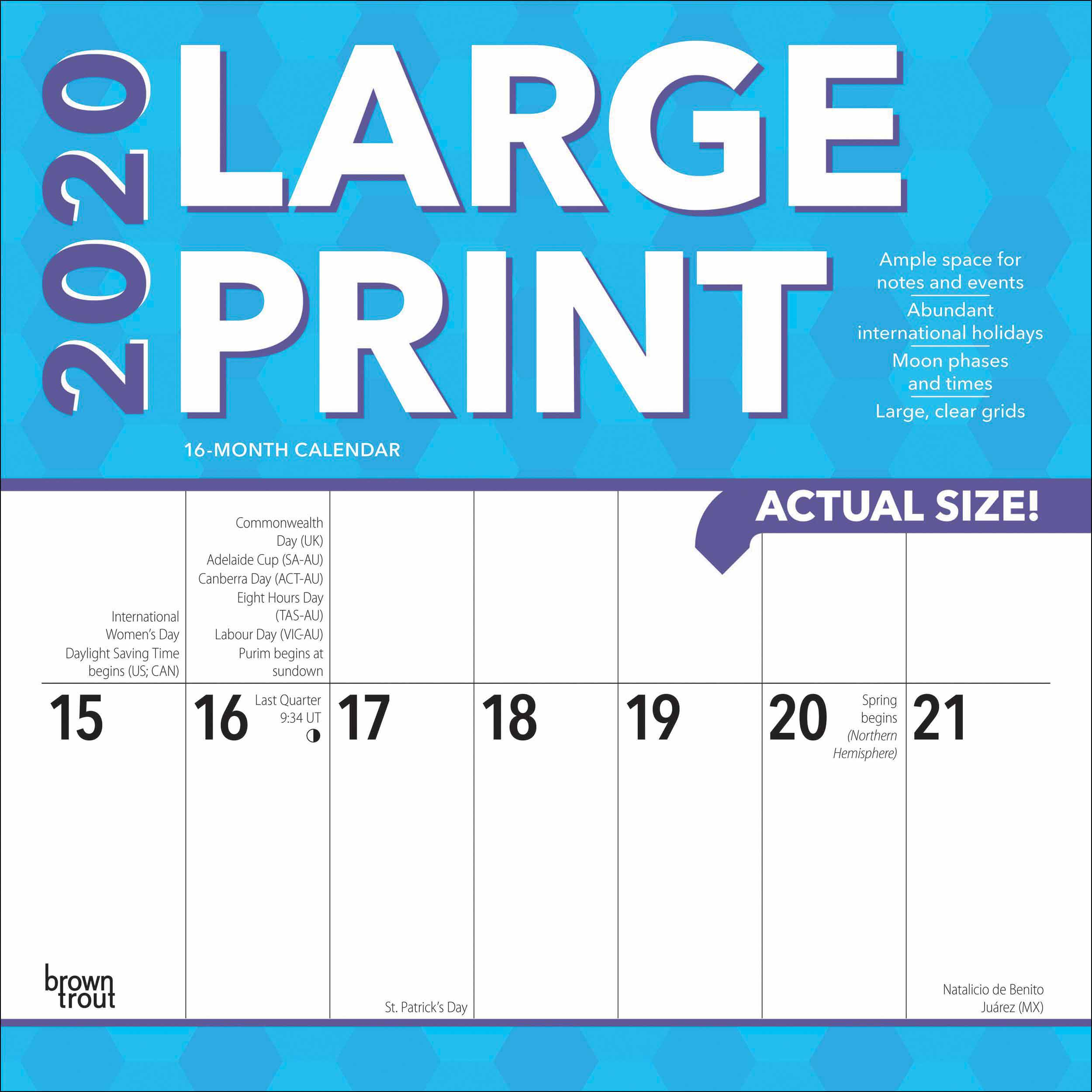 Large Print Calendar 2020 within National Food Day With Events Calender 2020 Free To Print Up