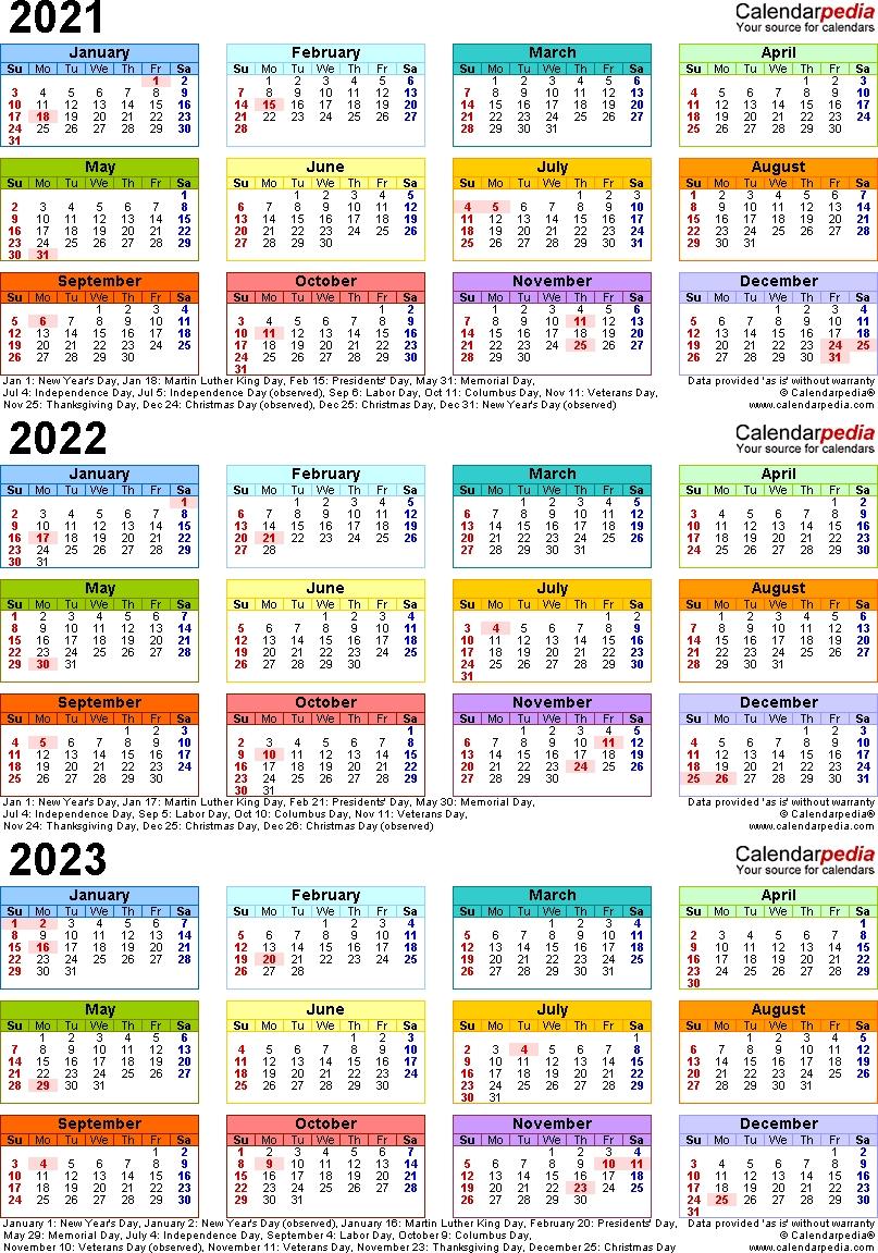 Lovely 3 Year Calendar 2022 To 2024 : Mini Calendar Template with Free Printable Calendar 2020-2022