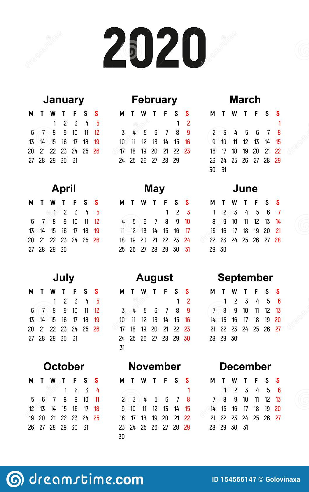 Monday Start Calendar 2020 - Wpa.wpart.co for 2020 Printable Calendars Beginning With Monday