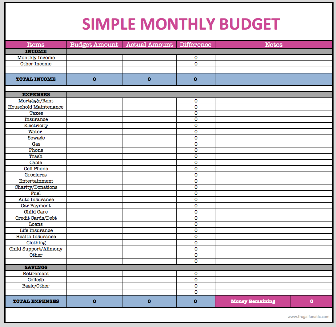 Monthly Budget Spreadsheet | Monthly Budget Spreadsheet within I Want A Monthly Spreadsheet I Can Use For Paying My Monthly Bills & Is Printable For My Use Only