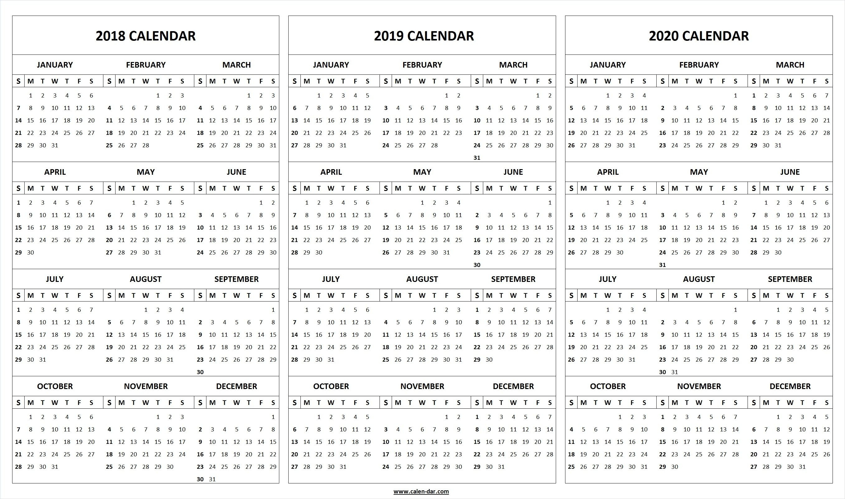 Monthly Printable Calendars 2020 Half Page - Calendar for Half Page 2020 Calender