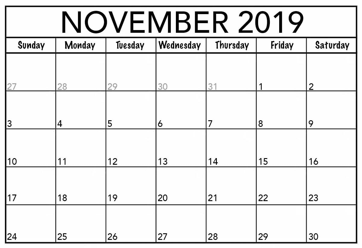 November 2019 Calendar Canada Printable - 2019 Calendars For intended for Printable Canadian Calendar With Holidays