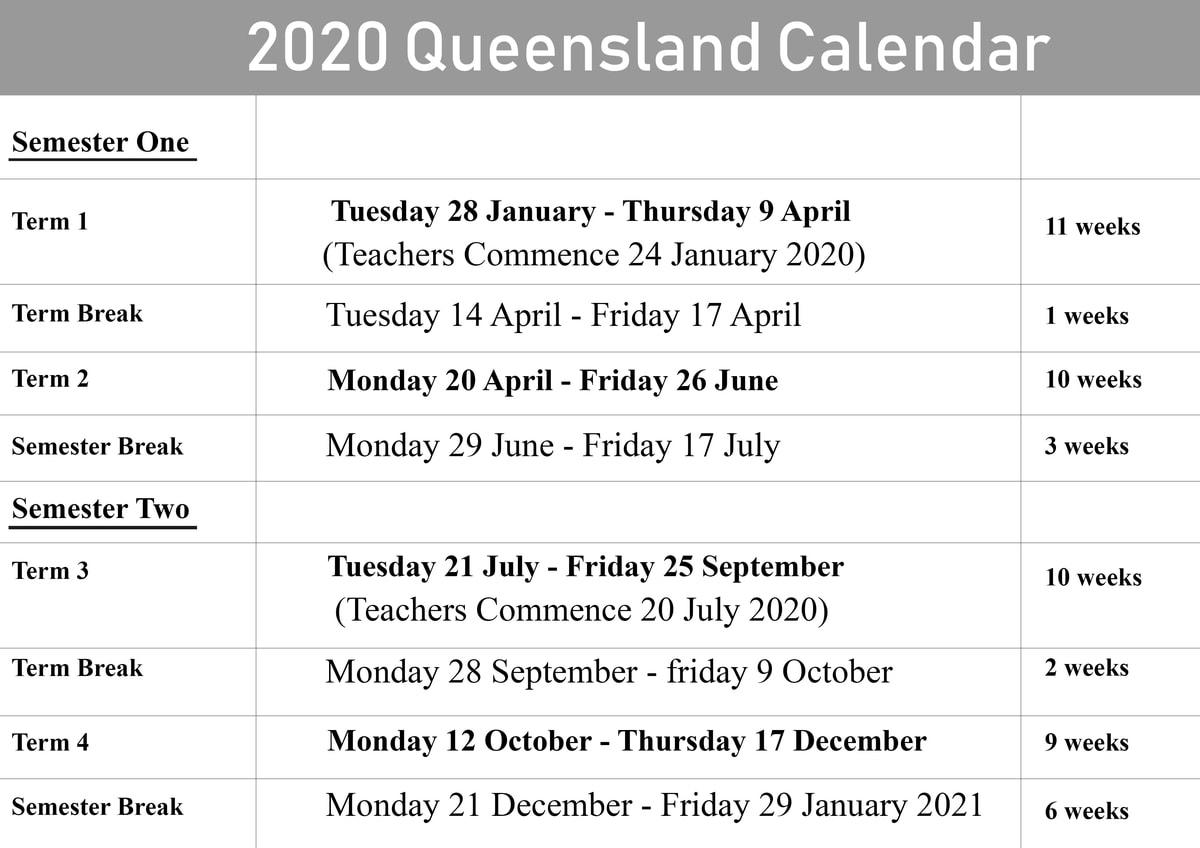 October Holidays 2020 - Themediocremama pertaining to 2020 Qld School Calendar Printable
