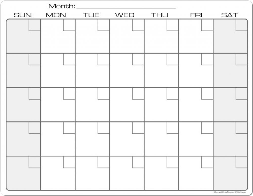 Printable Calendar 8 X 11 | Printable Calendar 2019-8.5 X 11 in 8.5 X 11 Calendar Template