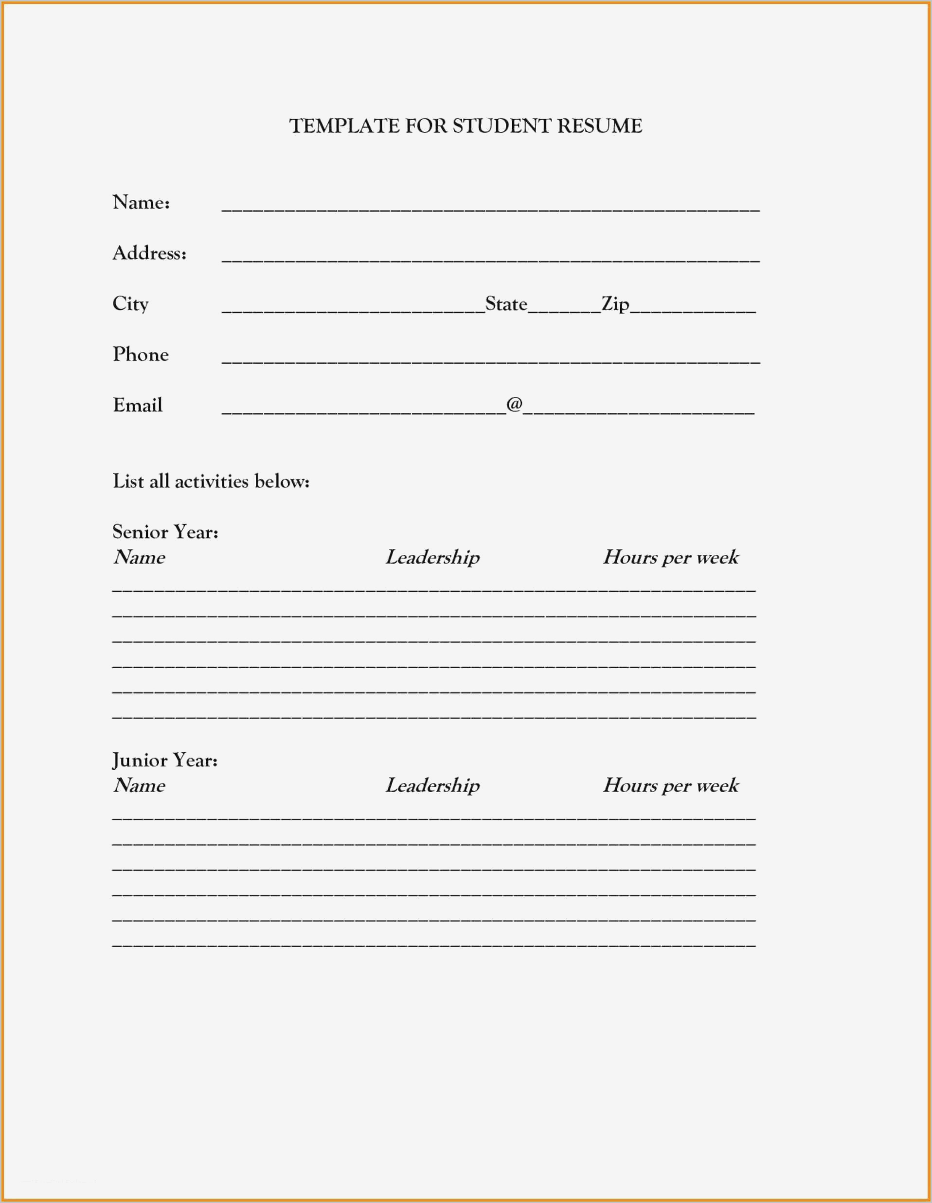Printable Fill In The Blank Resume Form - Resume pertaining to Printable Social Skills Fill In The Blanks