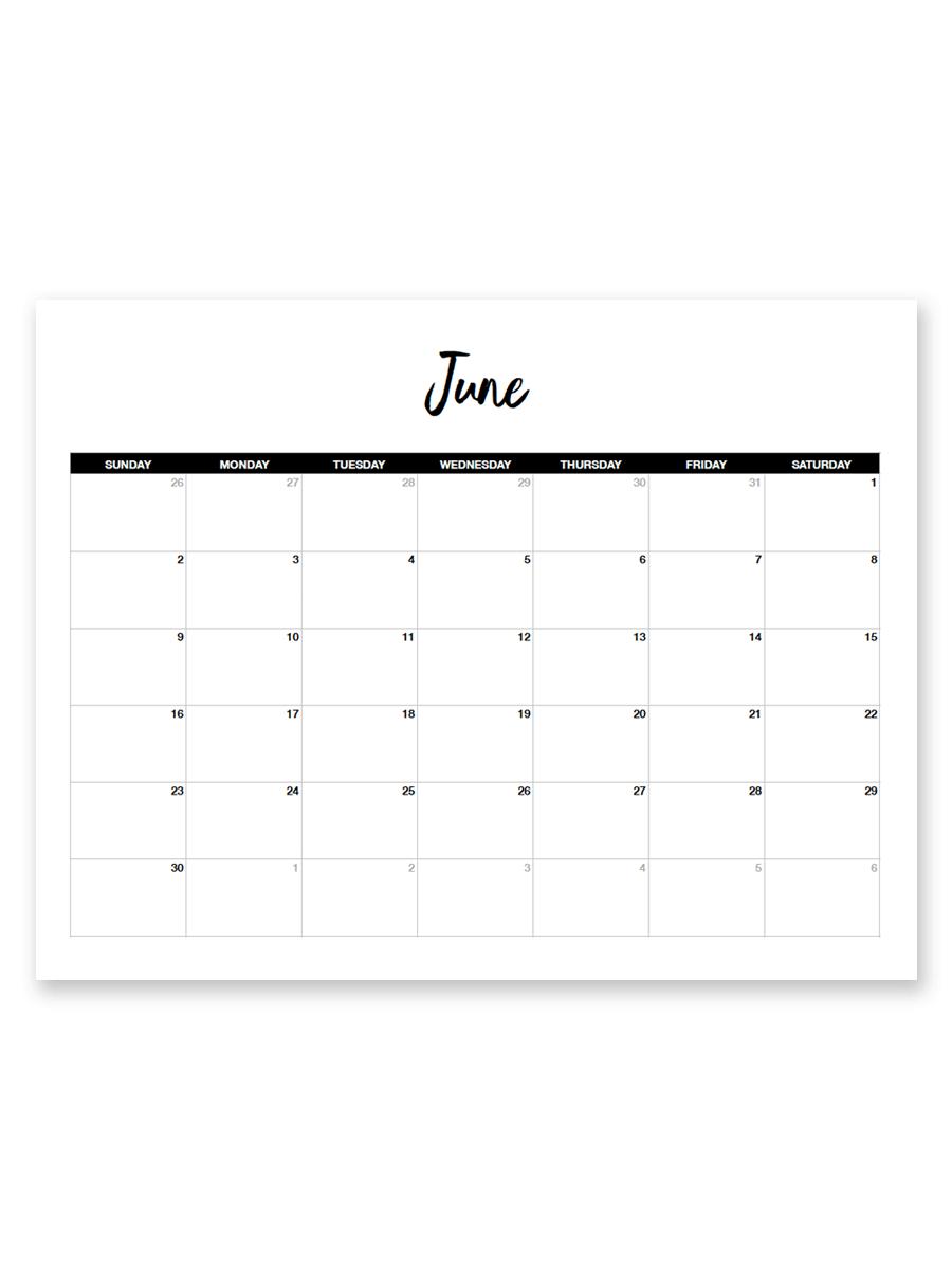 Printable June 2019 Calendar (Minimal | Printable Calendar with regard to 8.5 X 11 Calendar Template