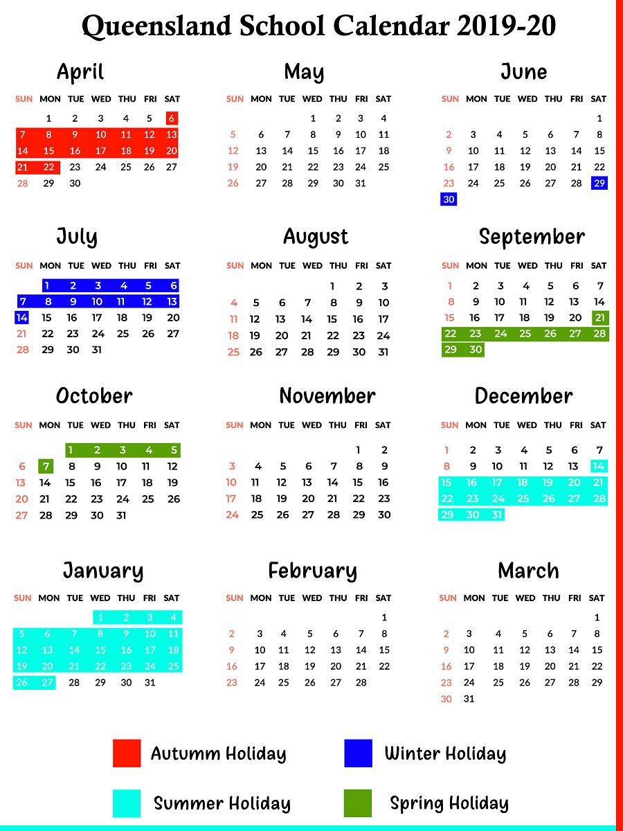 Qld School Holidays Calendar 2020 | Qld School Holidays in Queensland School Holidays 2020 Qld