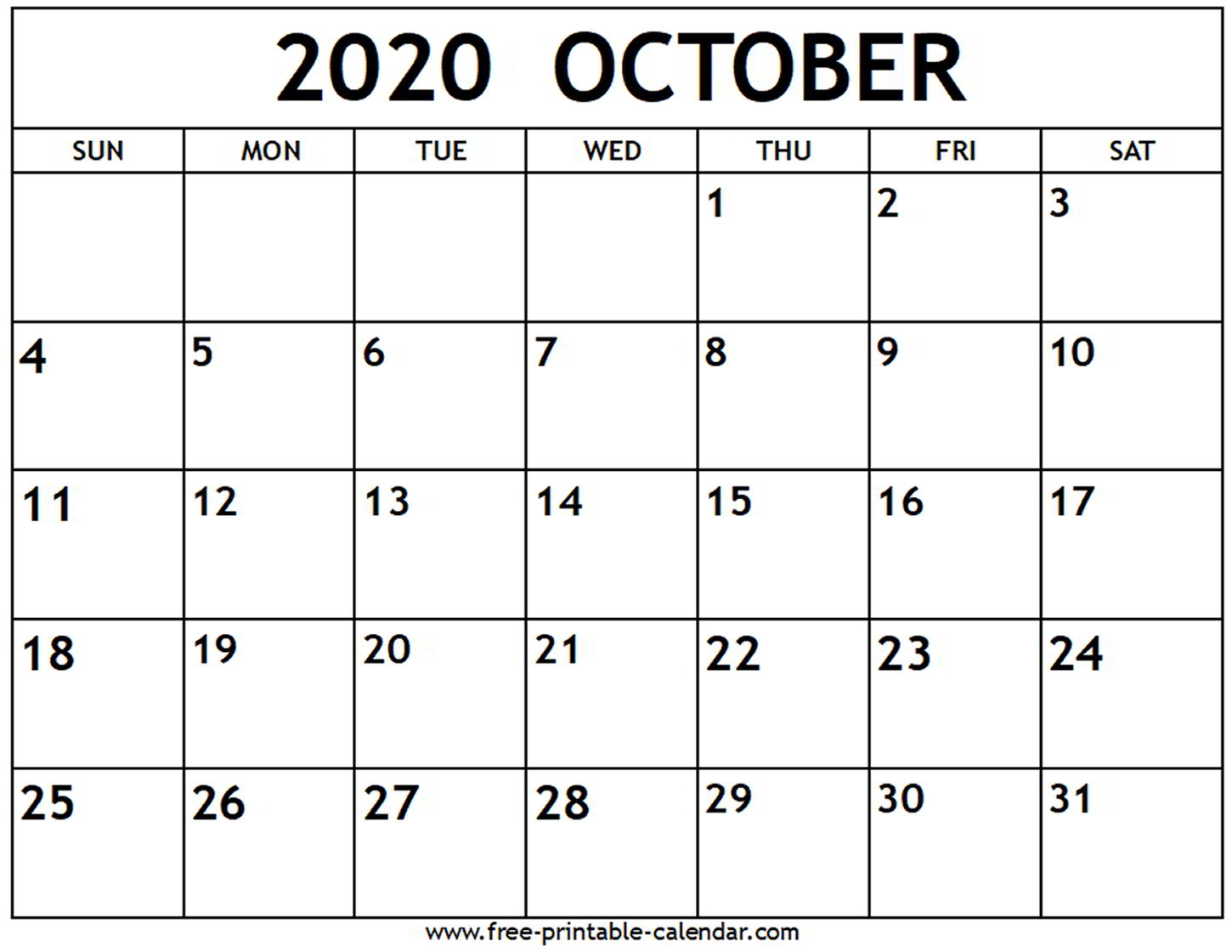 September October 2020 Calendar Printable - Wpa.wpart.co pertaining to Free Printable Monthly Calendar September 2020