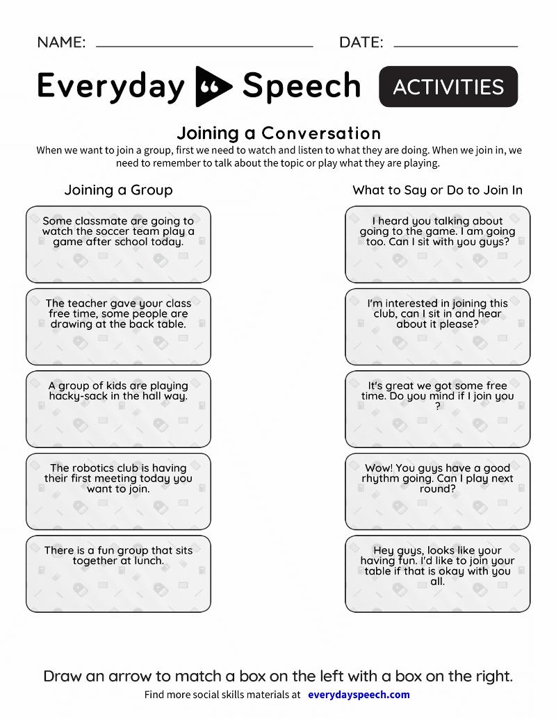 Social Skills Video Lessons For Students | Everyday Speech regarding Printable Social Skills Fill In The Blanks