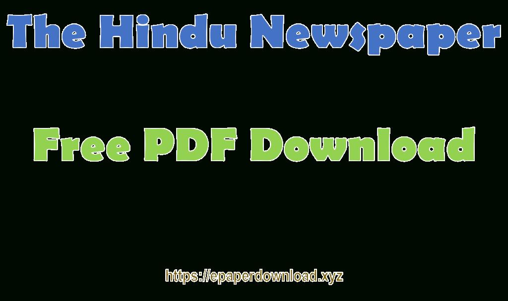 The Hindu Pdf Epaper Download Pdf Format January 2020 with I-9 Form 2020 Pdf