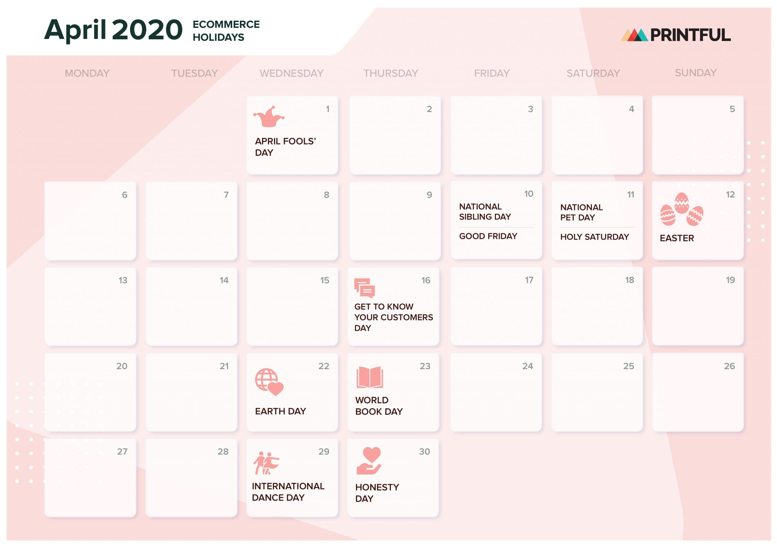 The Ultimate 2020 Ecommerce Holiday Marketing Calendar with regard to National Food Day With Events Calender 2020 Free To Print Up