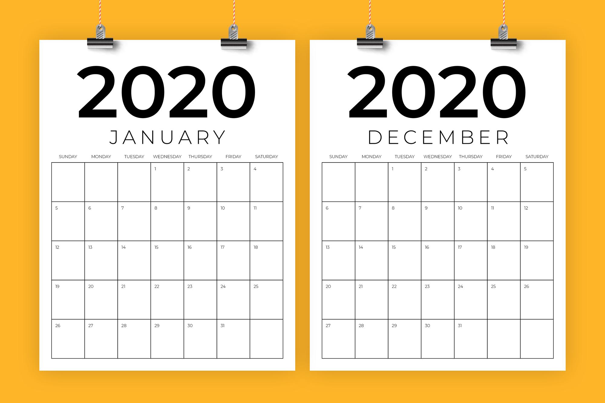 Vertical 8.5 X 11 Inch 2020 Calendar regarding 2020 Calendar Vertical