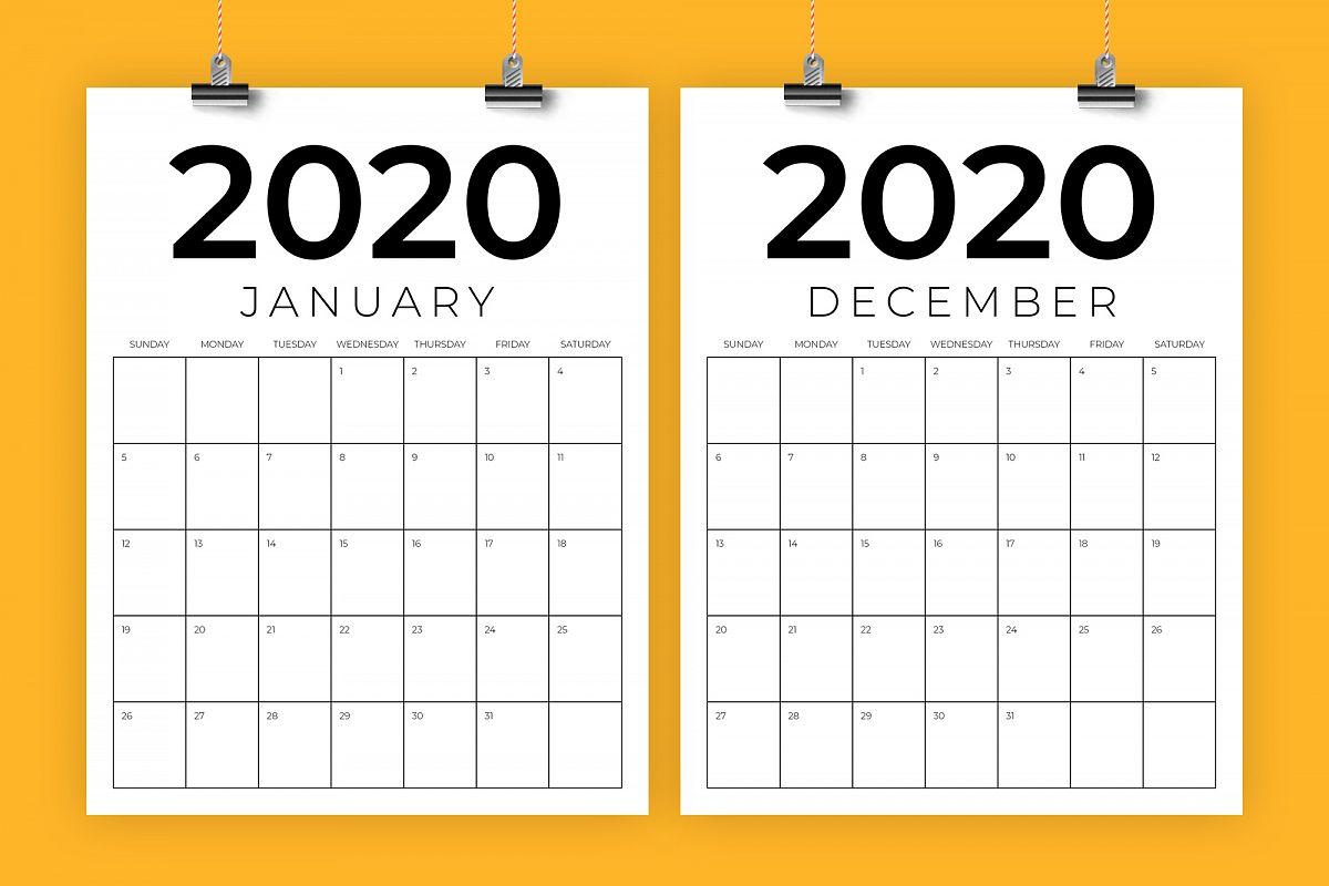 Vertical 8.5 X 11 Inch 2020 Calendar regarding 8.5 X 11 Calendar Template