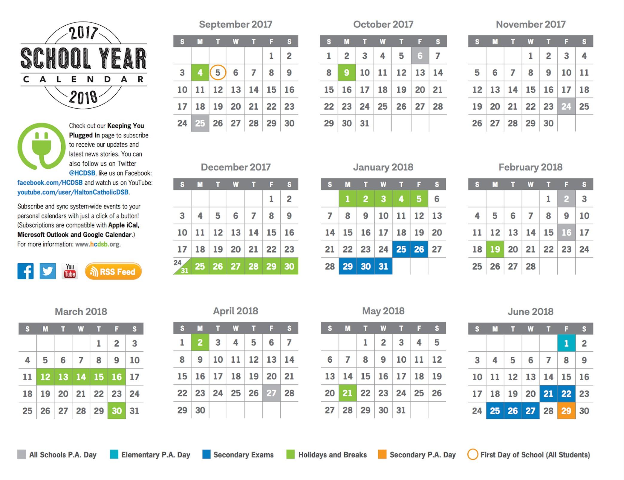 York Region District School Board. ⛔ York Region District intended for Yrdsb Calendar 2020