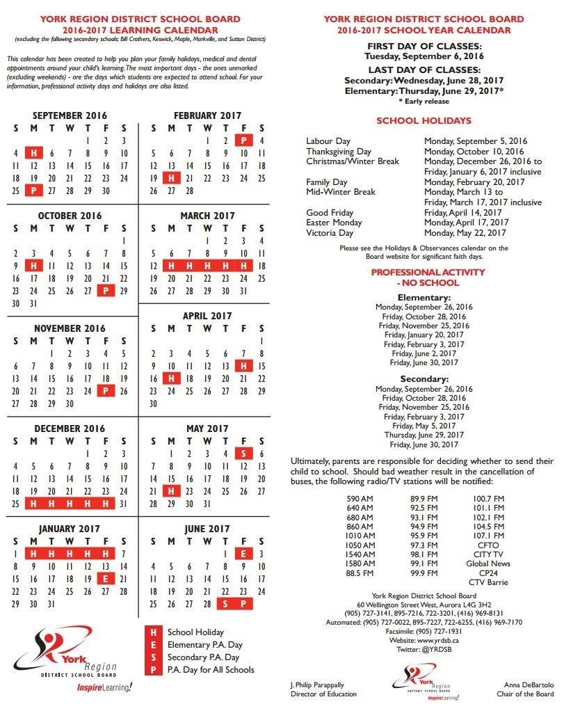 Yrdsb 2020 Calendar | Calendar Template Printable within Yrdsb Calendar 2020