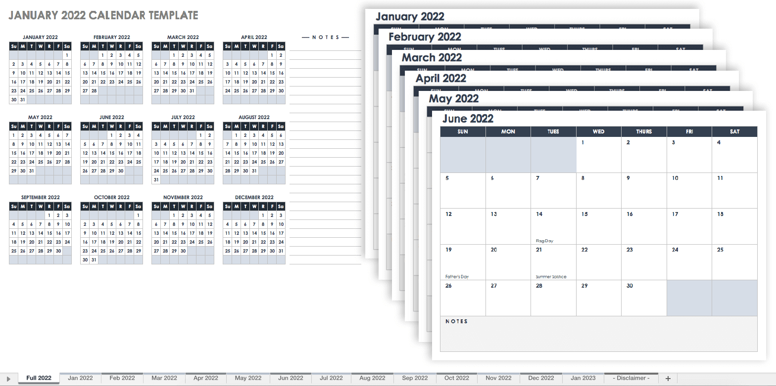 15 Free Monthly Calendar Templates | Smartsheet intended for Blank Monthly Calendar Template To Fill In