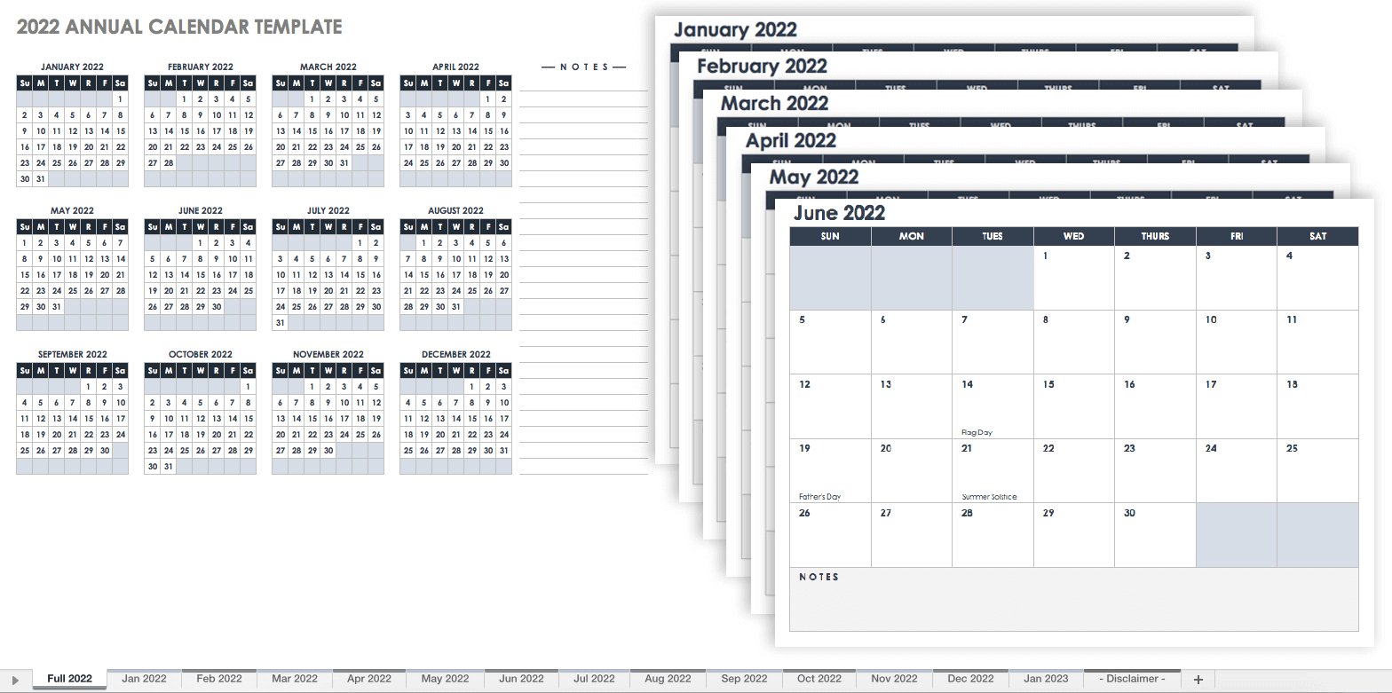 15 Free Monthly Calendar Templates | Smartsheet intended for Print Free 2020 Calendar Without Downloading Weekly Writing