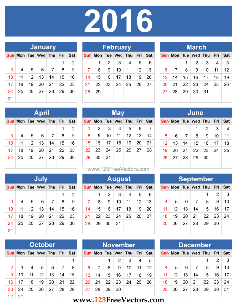2016 Calendar Vector | Calendar Template, Printable Calendar with regard to Pocket Calendar Free Online