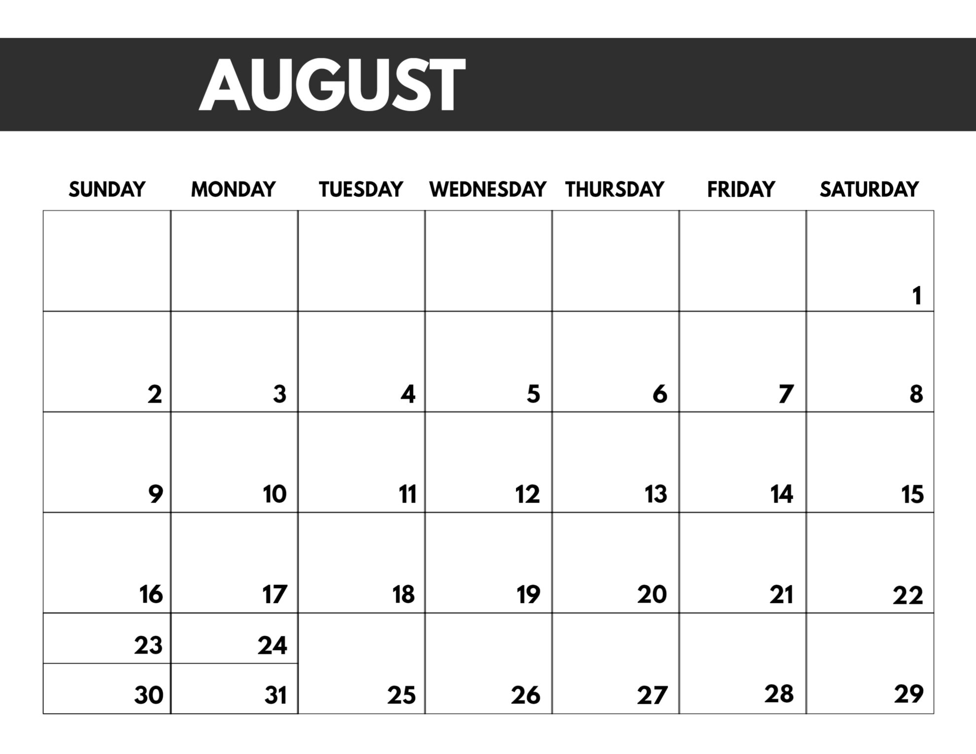 2020 Free Monthly Calendar Template | Paper Trail Design with Free Blank Printable Monthly Calendar 2020