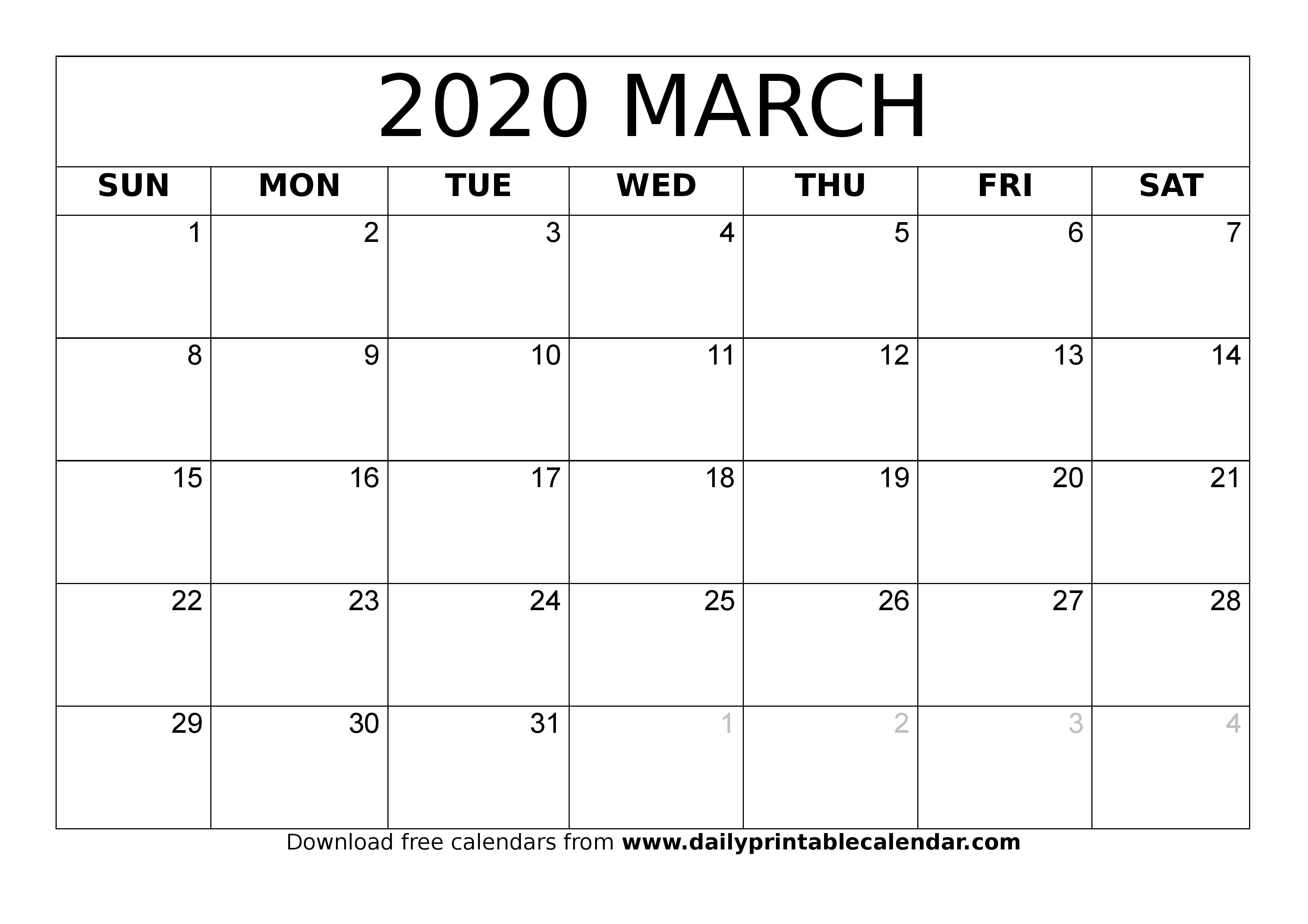 2020 Monthly Calendar Printable (January To December regarding Monthly Fill In Calendar 2020
