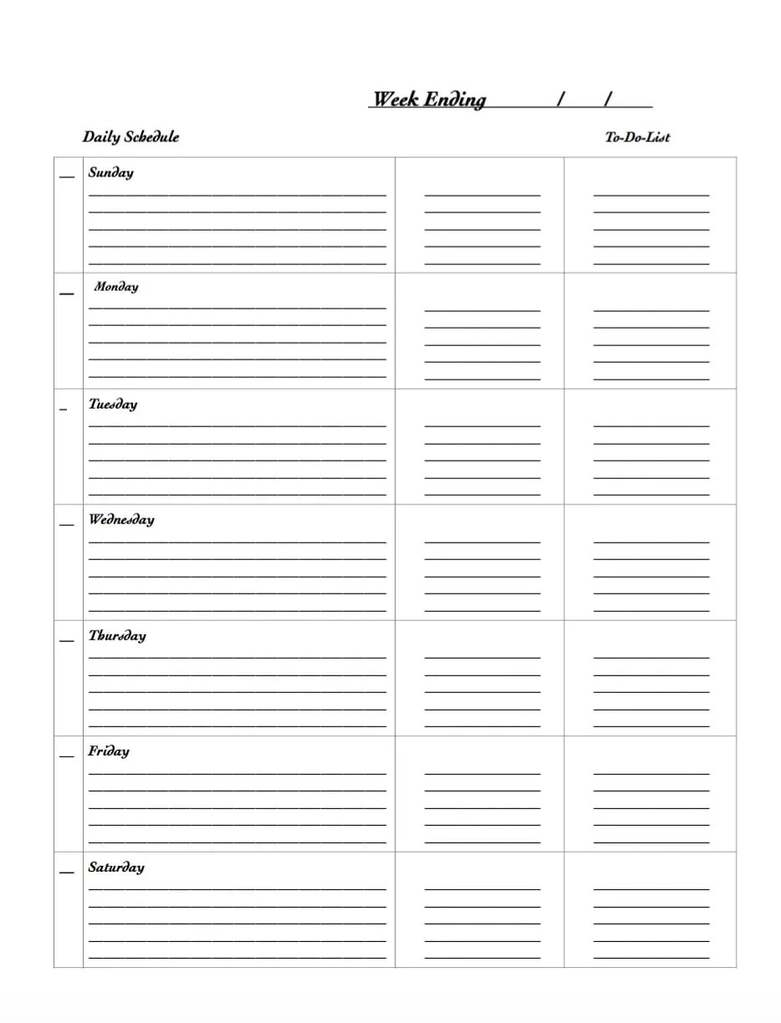 29 Free Weekly Planner Template Printables For 2020 within 2020 Monthly Printable Pocket Planner