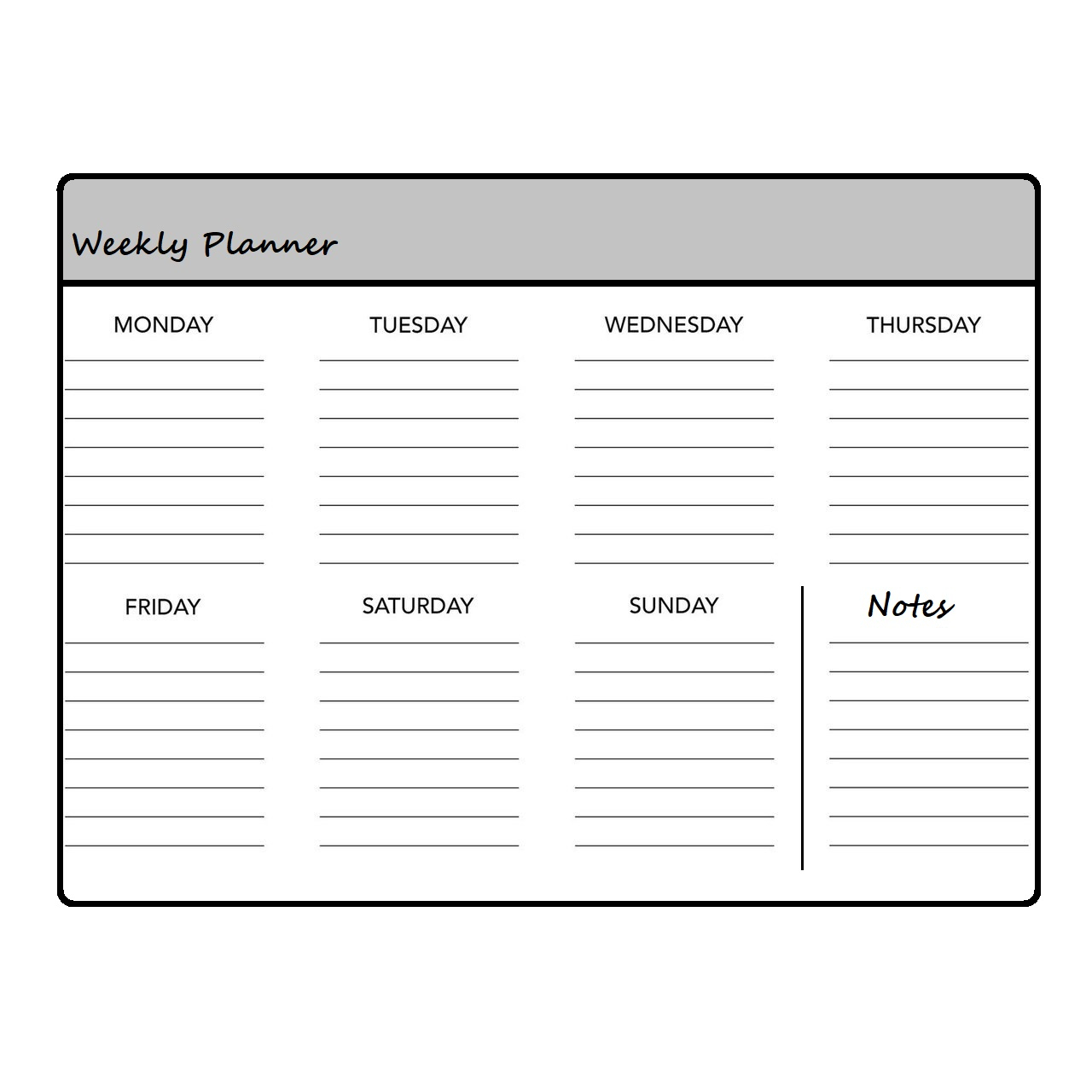 5 Free Printable Weekly Planner Templates » Calendarkart within 2020 Monthly Printable Pocket Planner