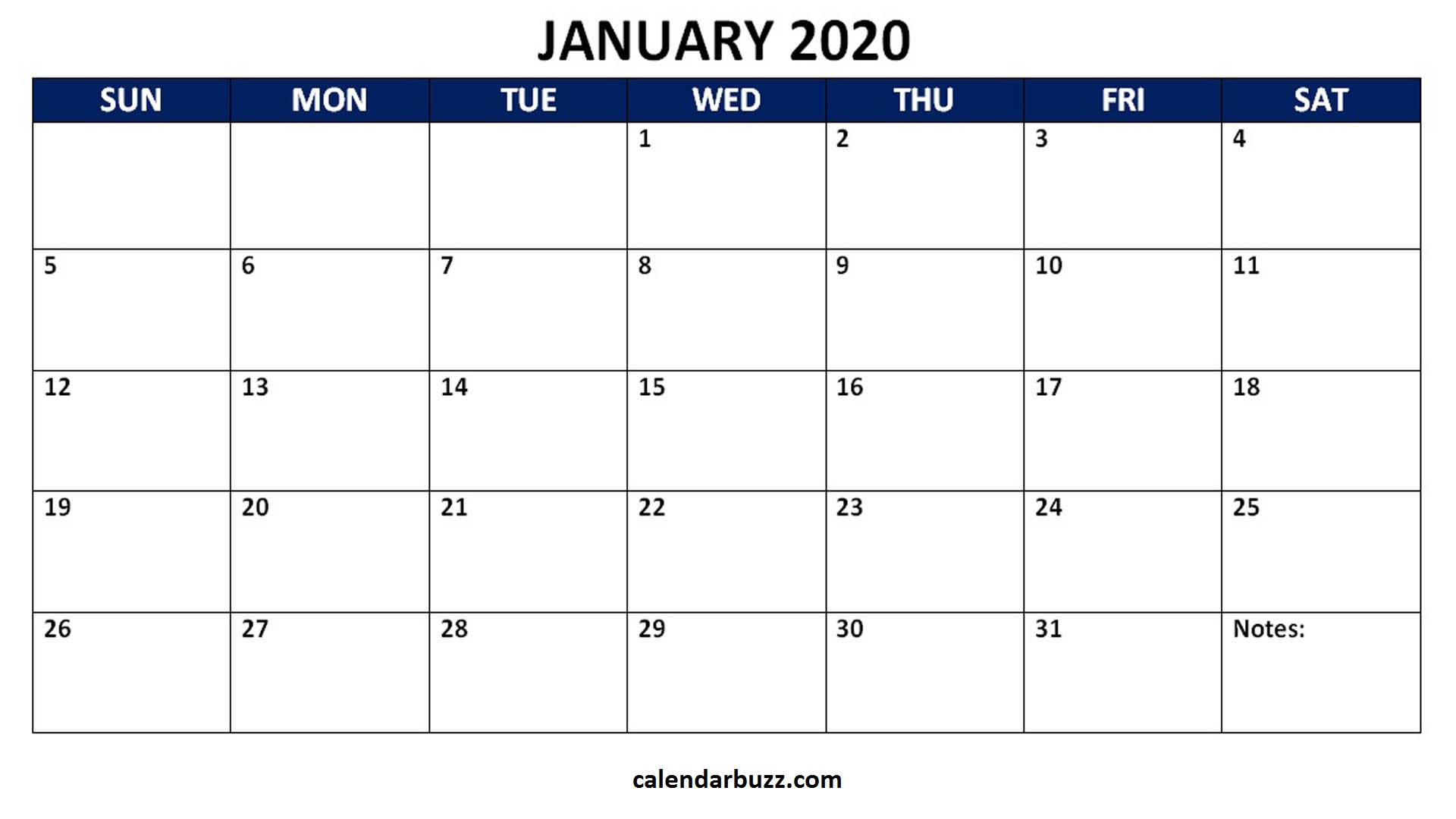 Blank 2020 Calendar Printable Monthly Word Templates with Free Fillable Calendars 2020