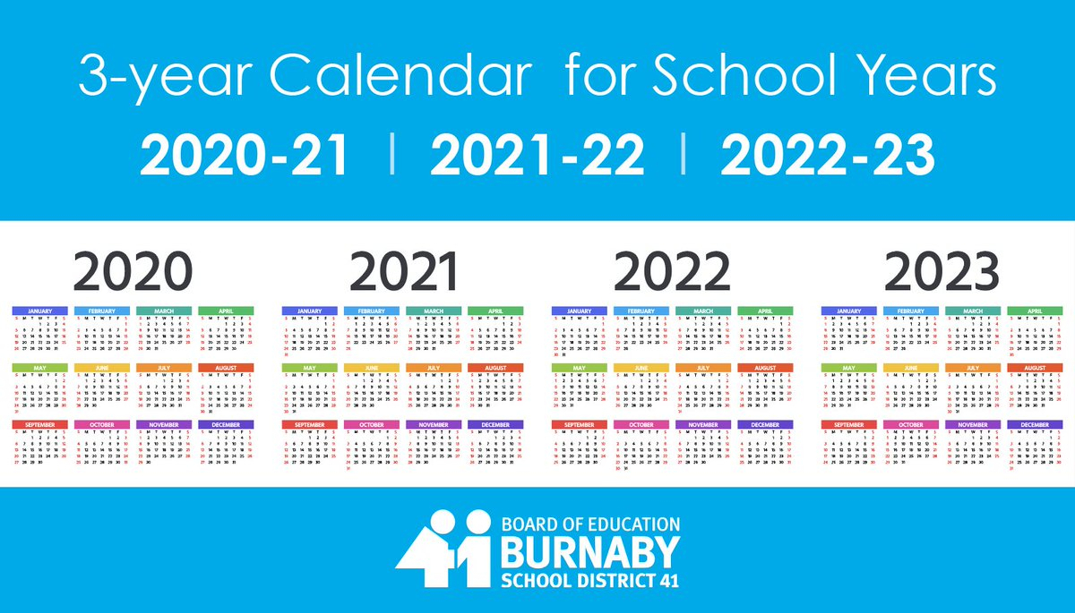 """Burnaby Schools Auf Twitter: """"we Are Welcoming Feedback On with regard to 3 Year Calendar 2020"""