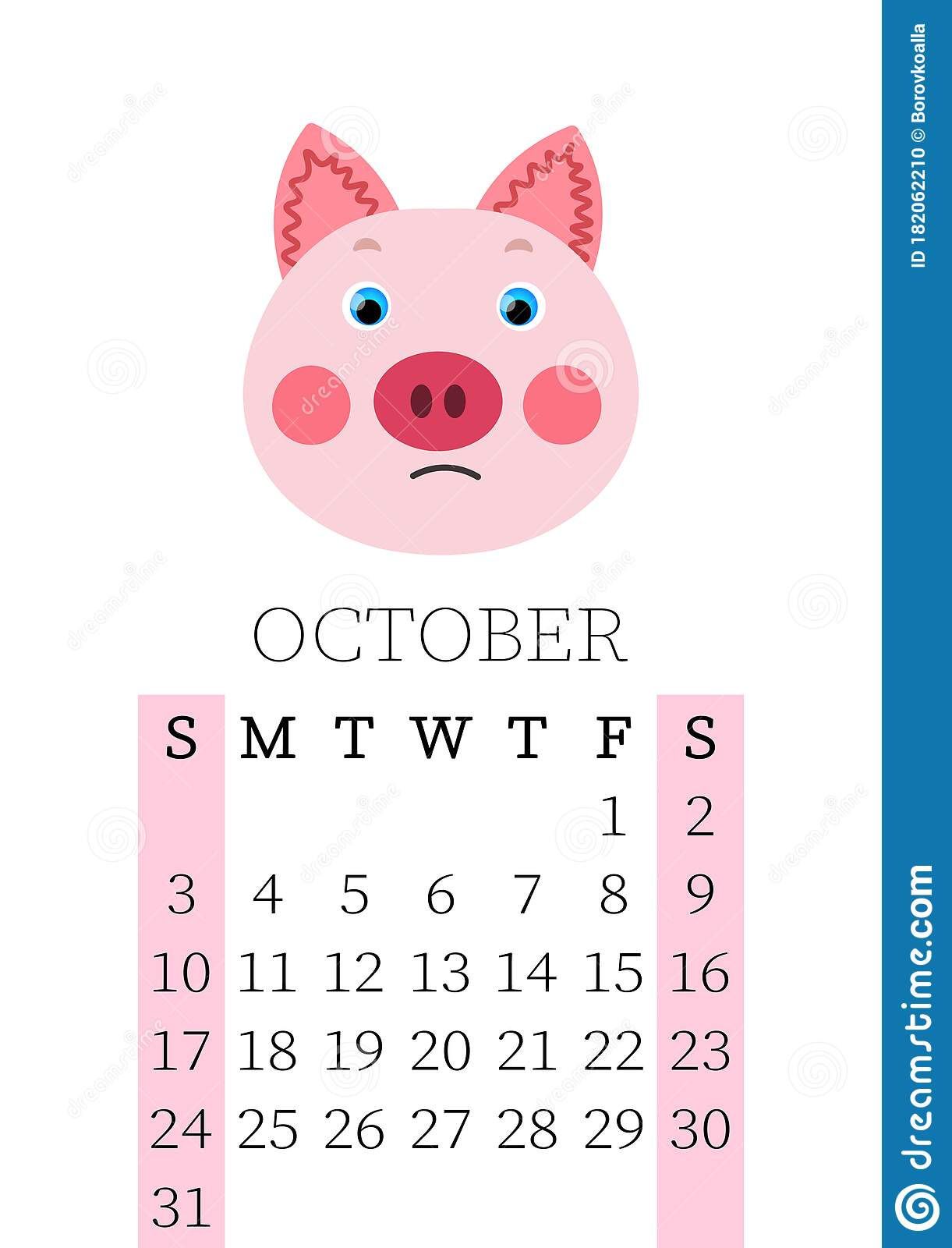 Calendar 2021. Monthly Calendar For October 2021 From Sunday intended for Sunday To Saturday Calendar