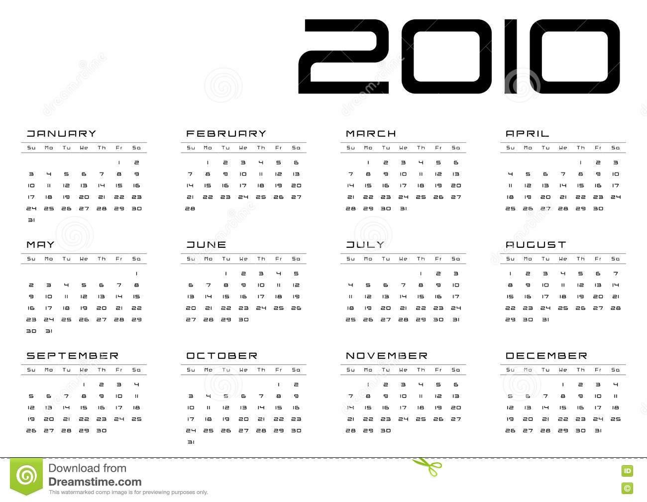 Calendar Grid Sunday-Saturday Picture. Image: 11967897 in Sunday To Saturday Calendar
