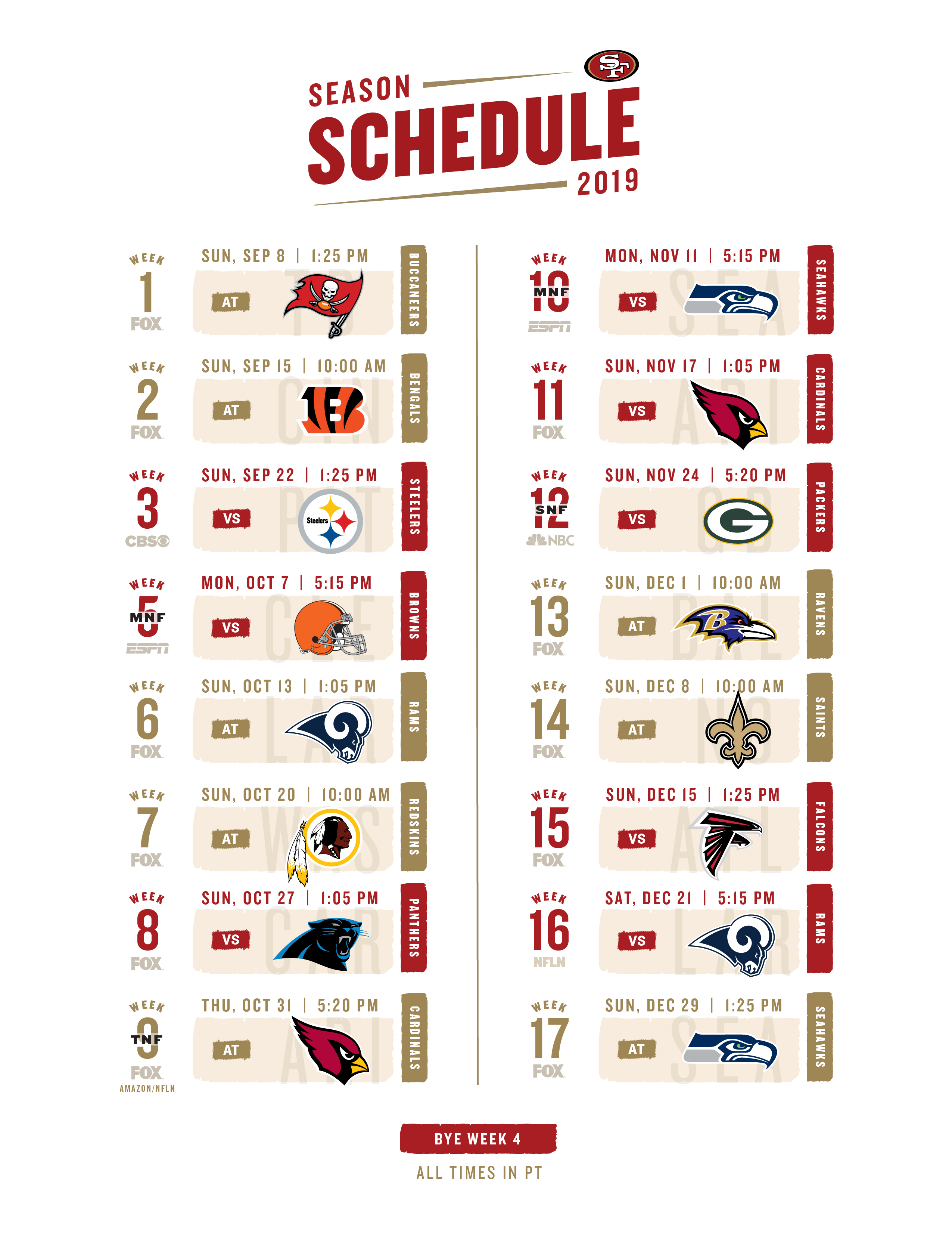 Click The Link Below For A Printable 2019 Schedule with 2020 Nfl Schedule Printable