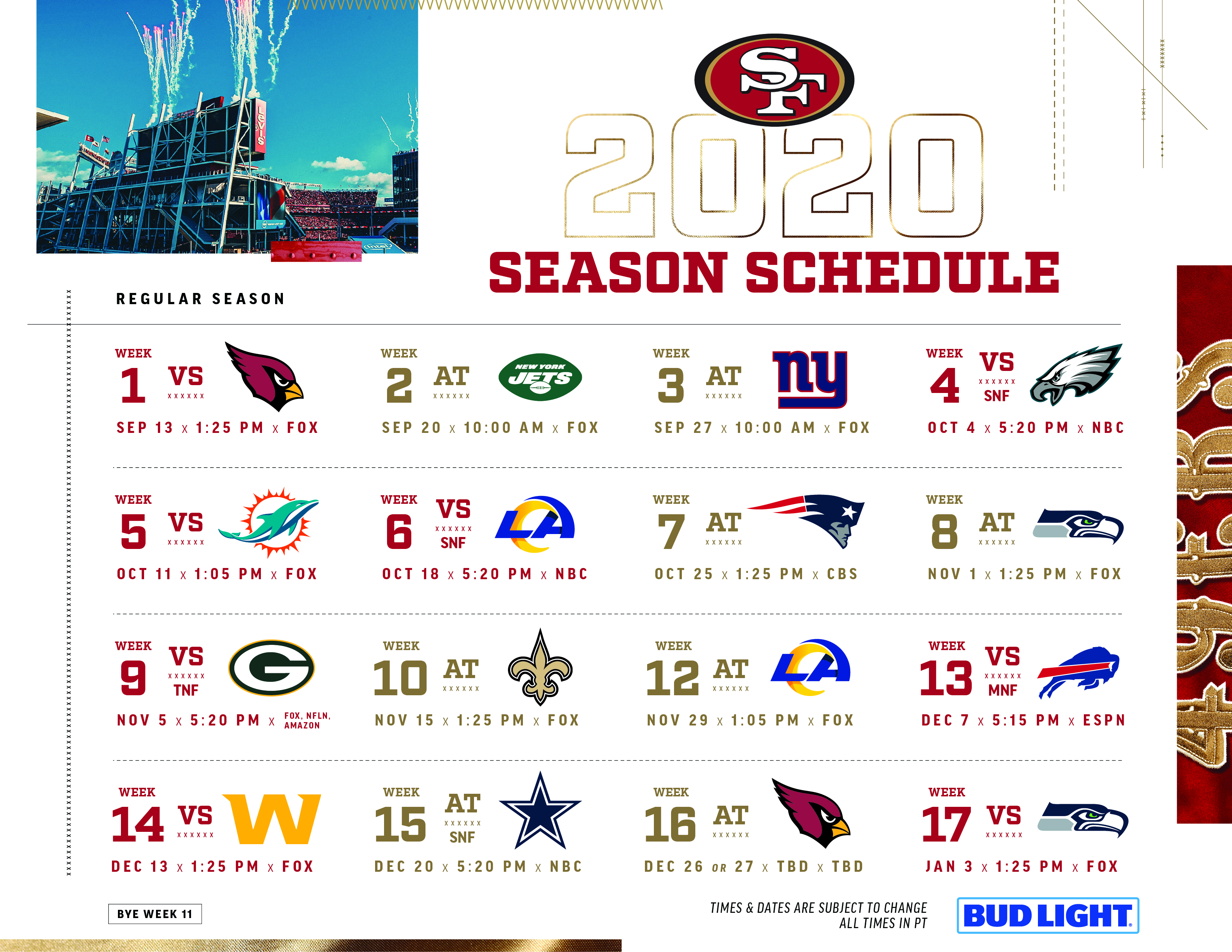 Click The Link Below For A Printable 2020 Schedule pertaining to 2020 Nfl Schedule Printable