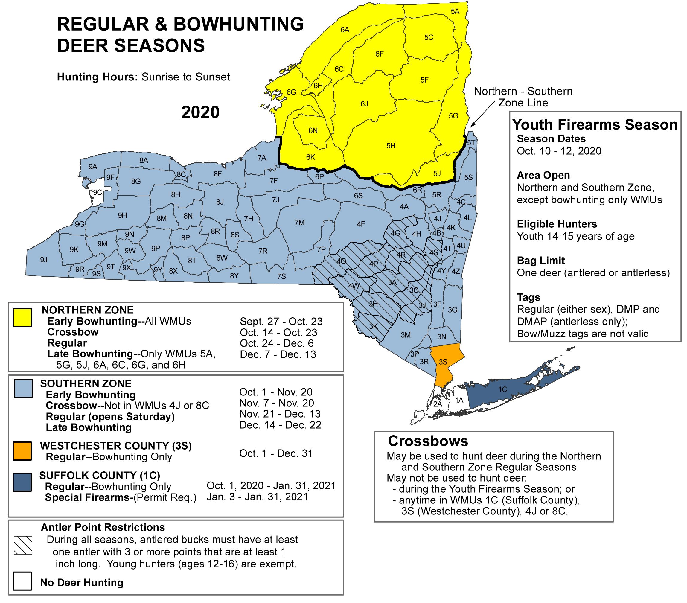 Deer And Bear Hunting Seasons - Nys Dept. Of Environmental inside Deer Hunting Calendar 2020
