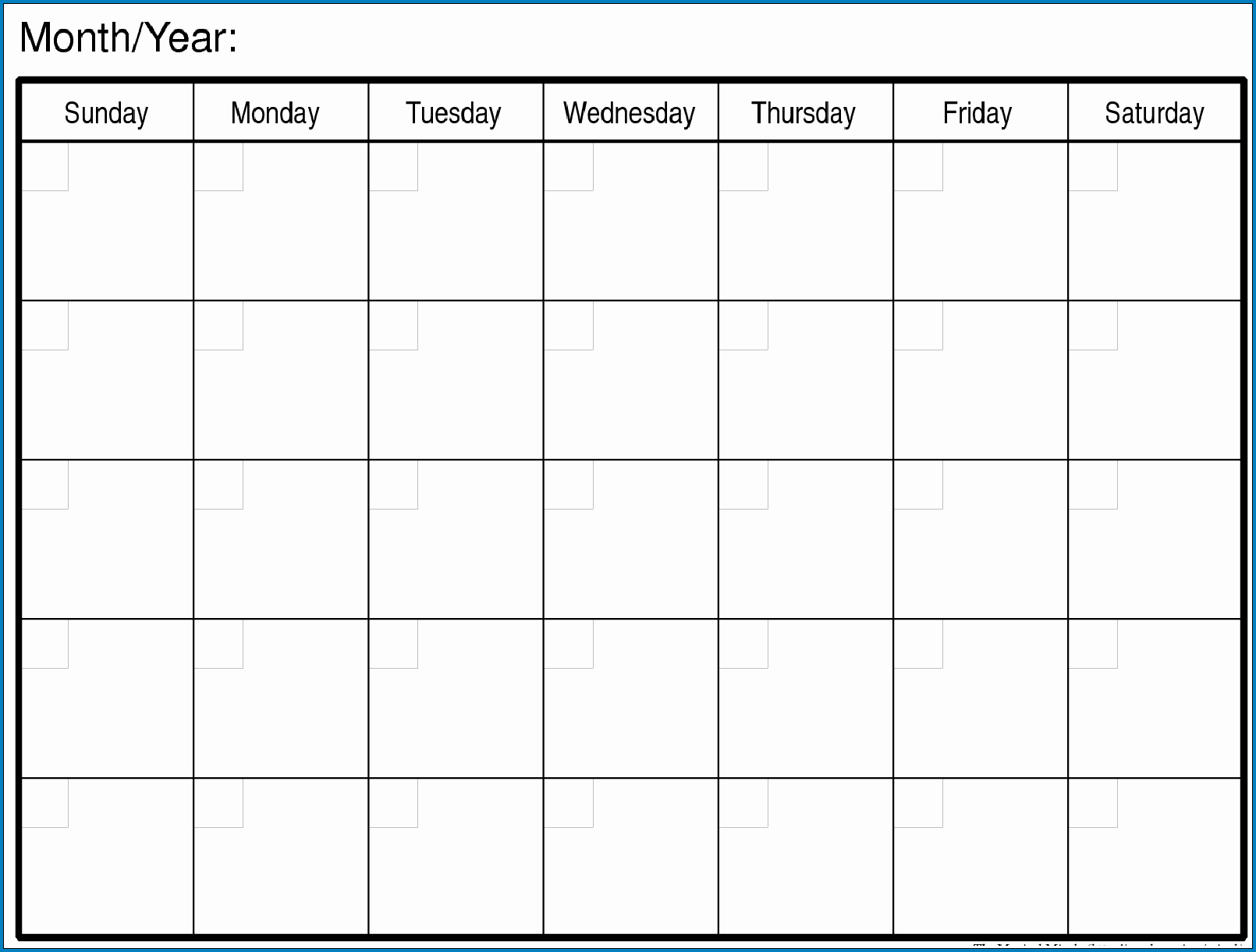 √ Free Printable Blank Monthly Calendar Template | Templateral pertaining to Blank Monthly Calendar Template To Fill In