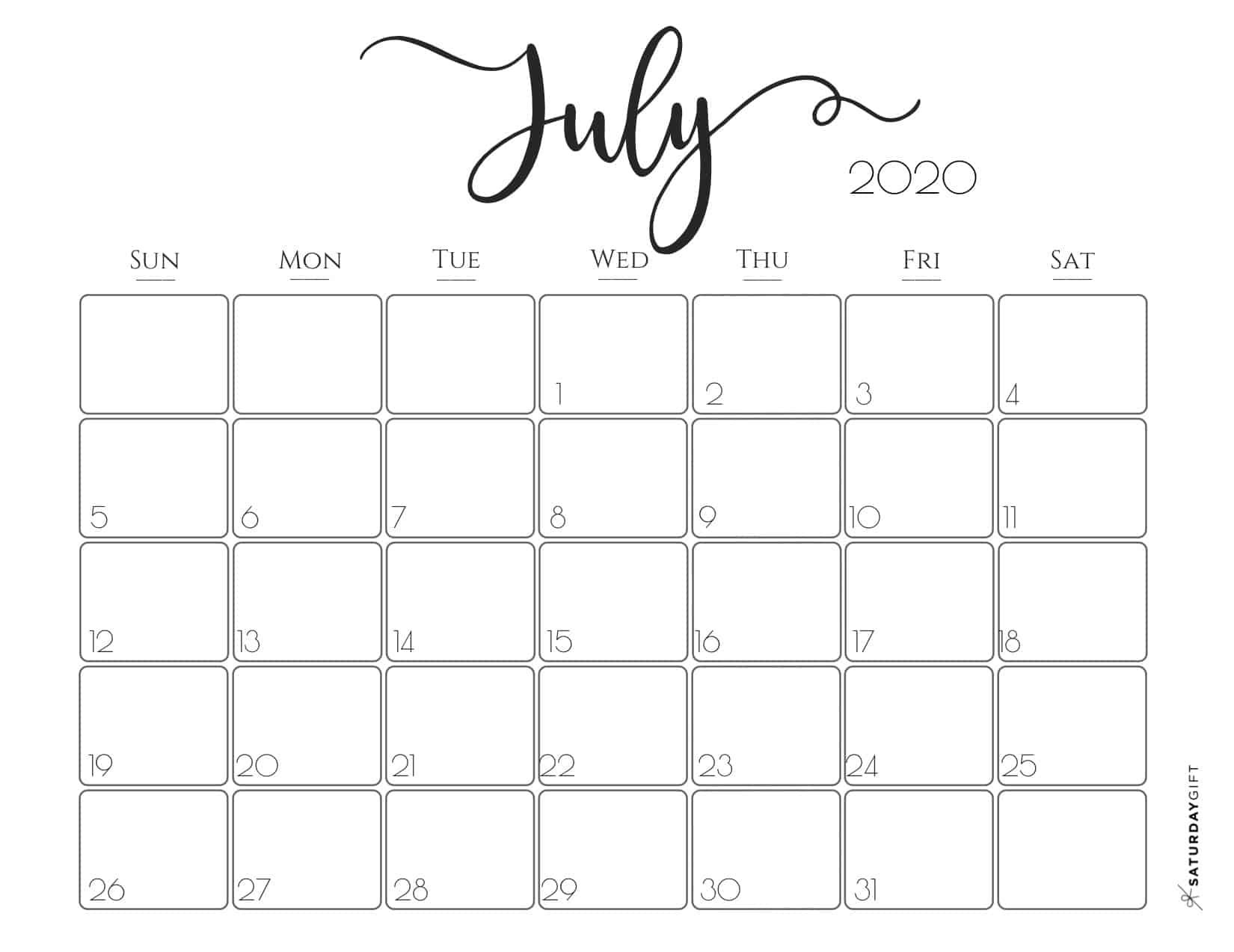 Elegant 2020 Calendar {Free Printables} In 2020 | Calendar within Print Free 2020 Calendar Without Downloading Weekly Writing