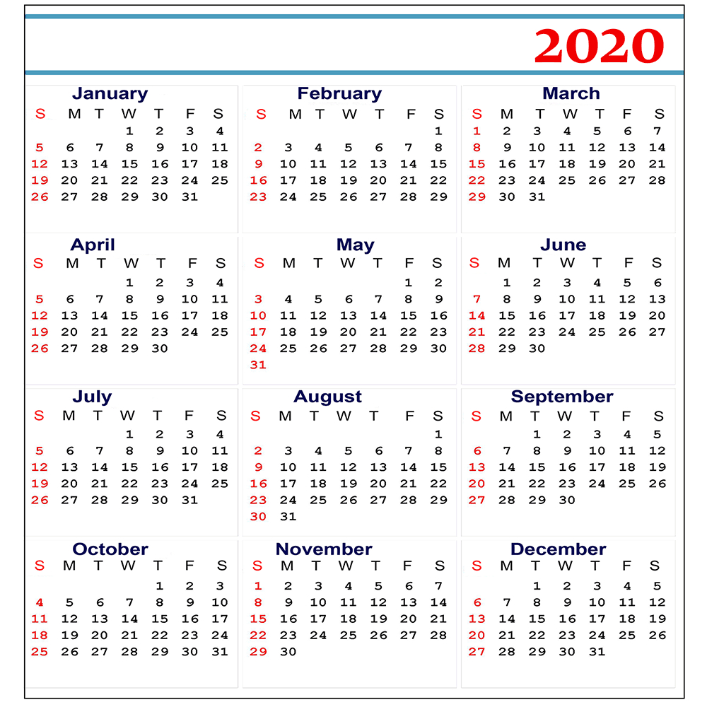 Free 2020 Printable Calendar Templates | Editable Calendars 2020 inside Printable Monthly Liiturgical Calendar 2020