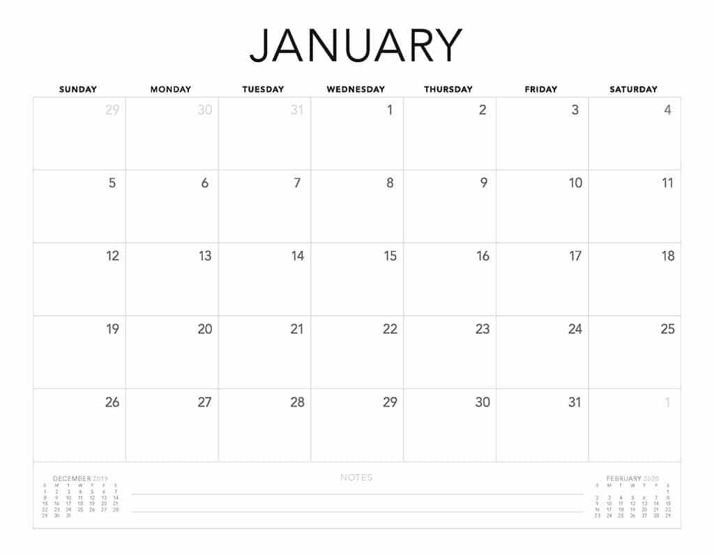 Free 2020 Printable Calendars - 51 Designs To Choose From! for 2020 Calendar That Shows Only Monday Through Friday