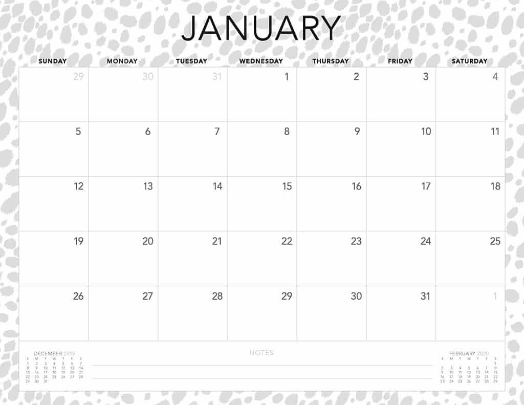 Free 2020 Printable Calendars - 51 Designs To Choose From! within Free Fill In Calendars 2020