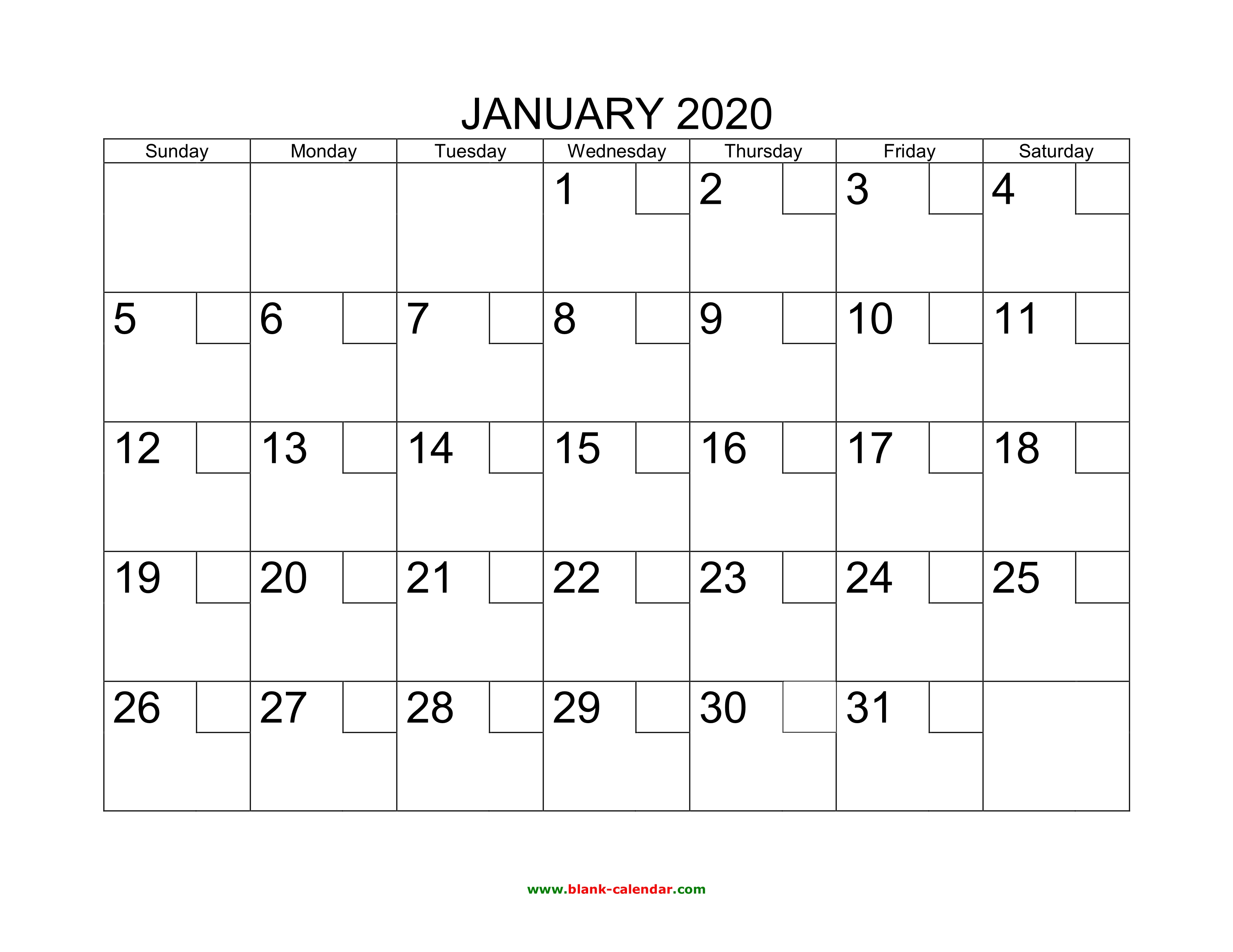 Free Download Printable Calendar 2020 With Check Boxes with regard to Printable Yearly Calendar With Boxes