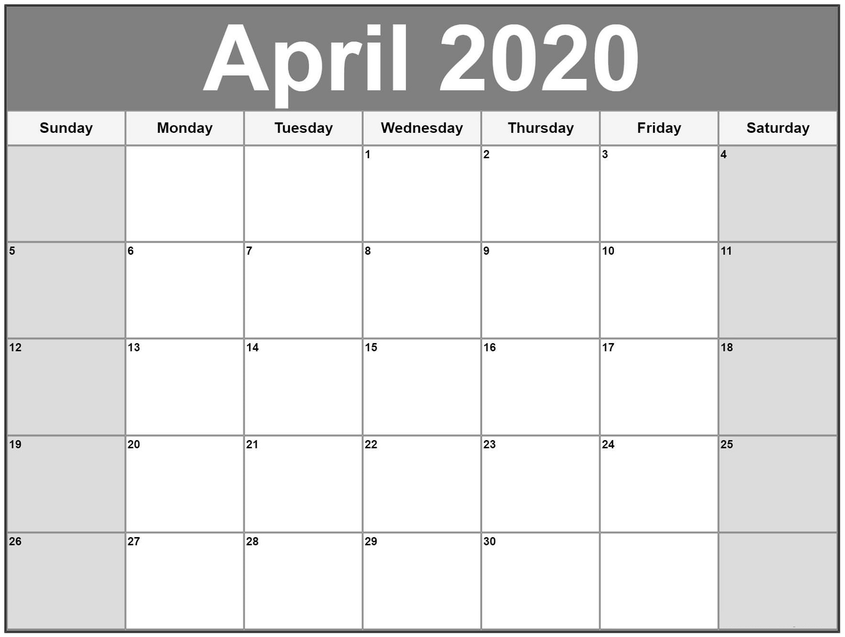 Free Printable Calendar 2020 | Calendar Shelter regarding Free Fill In Calendars 2020